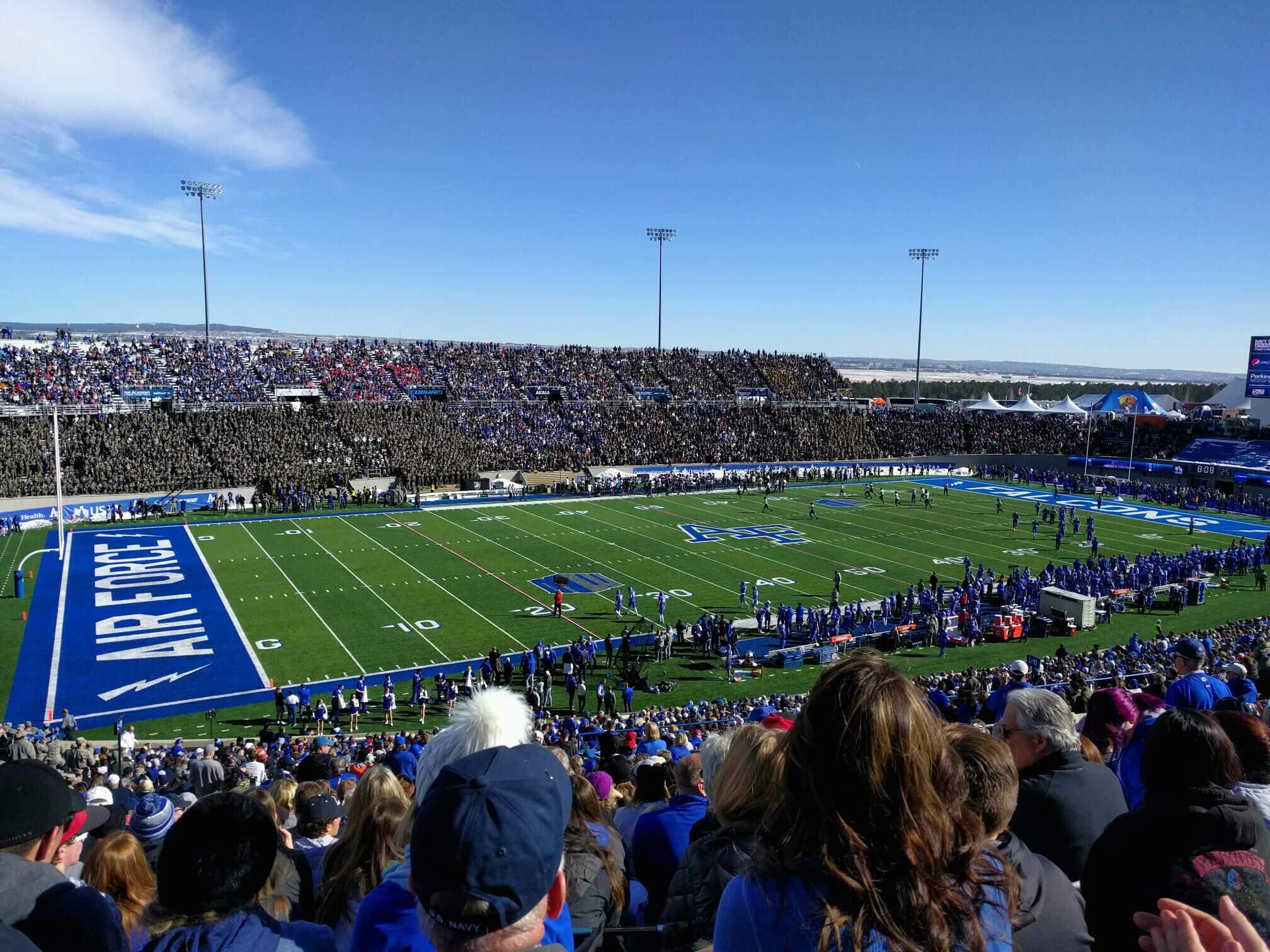 Falcon Stadium Section l11 Row u Seat 27