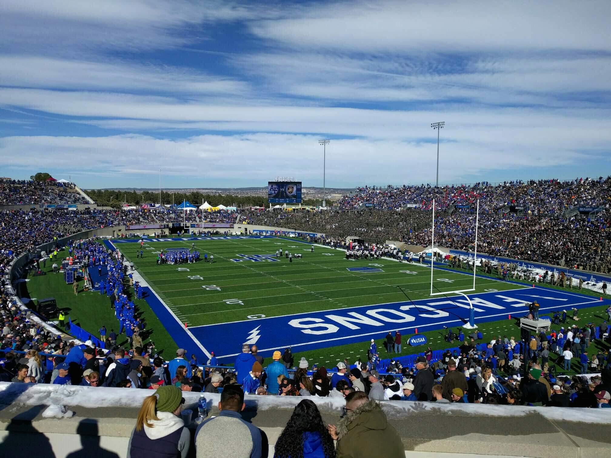 Falcon Stadium Section m1 Row f Seat 12