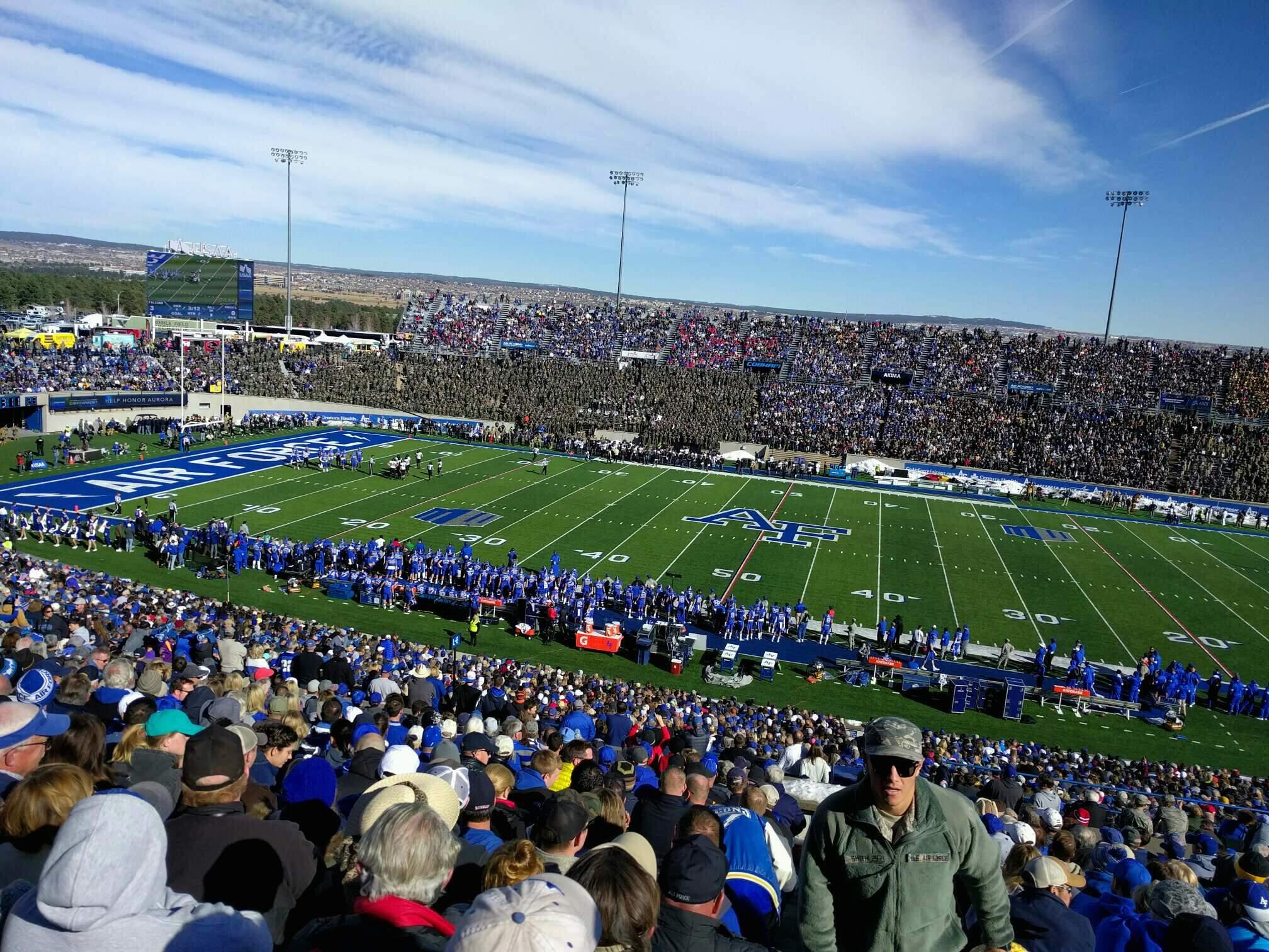 Falcon Stadium Section m8 Row t Seat 1