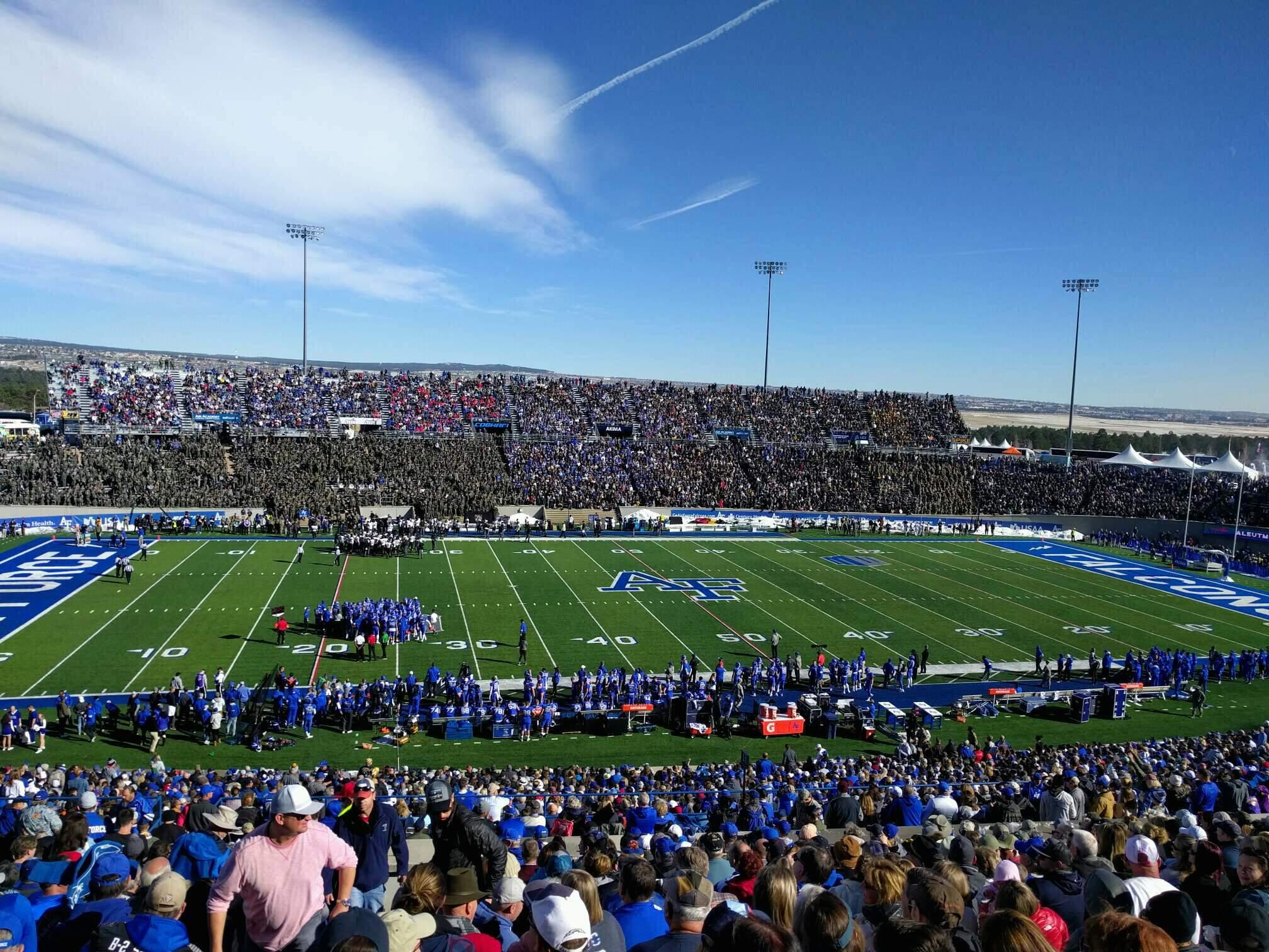 Falcon Stadium Section m9 Row t Seat 32