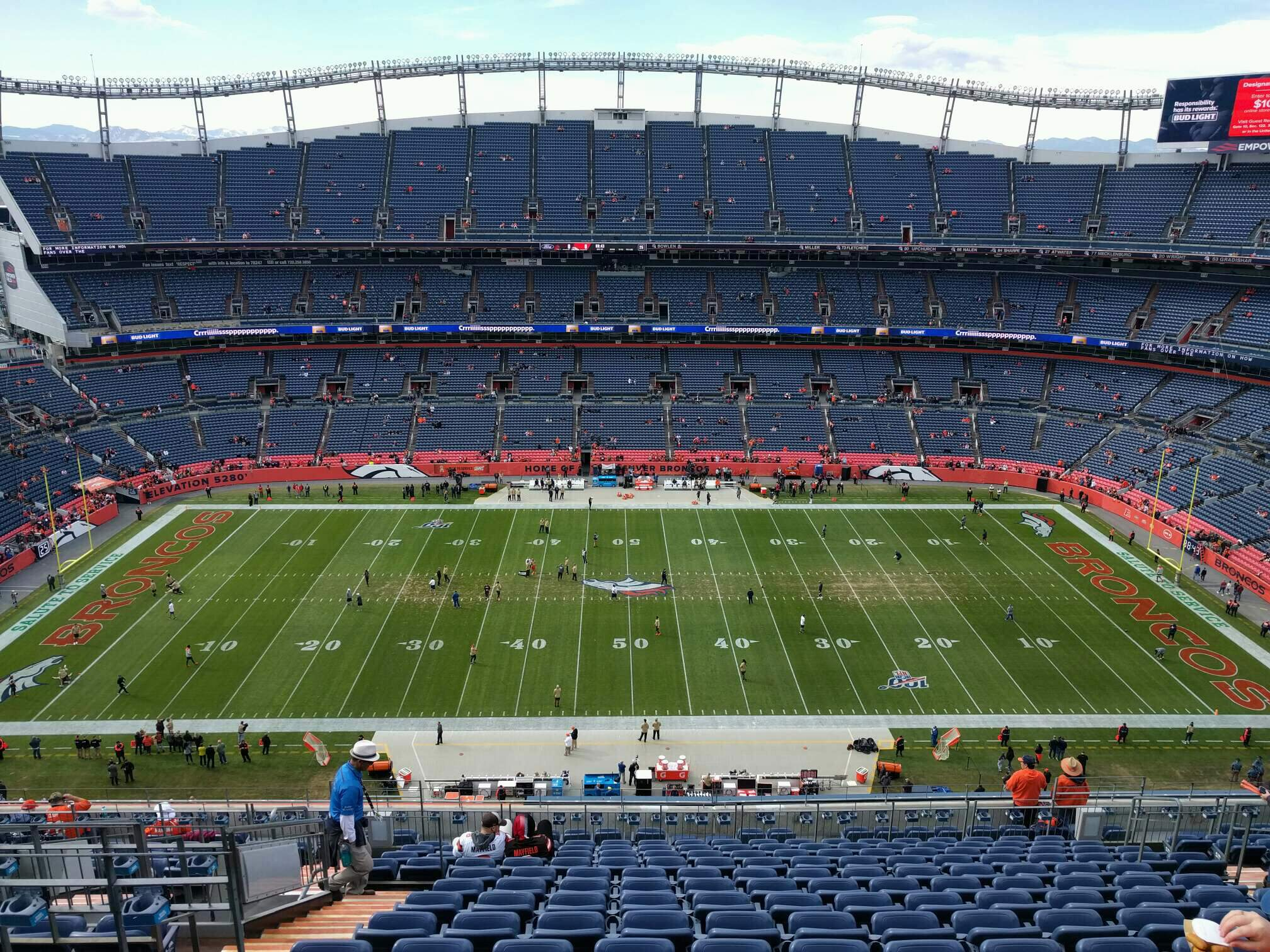 Empower Field at Mile High Stadium Section 534 Row 17 Seat 13