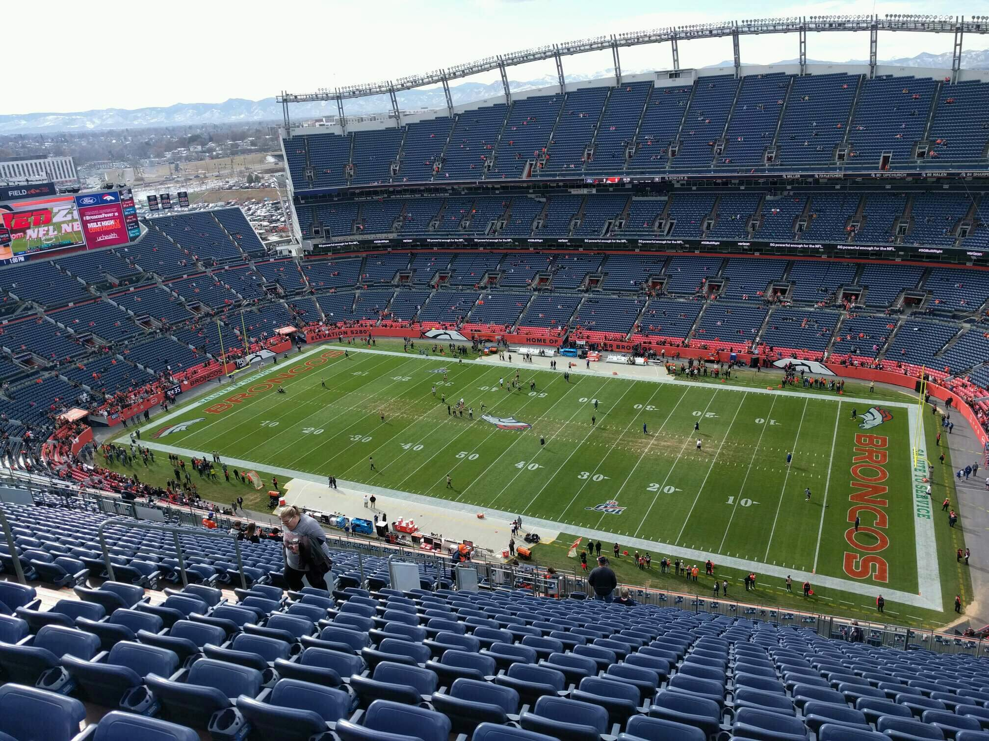 Empower Field at Mile High Stadium Section 530 Row 26 Seat 17