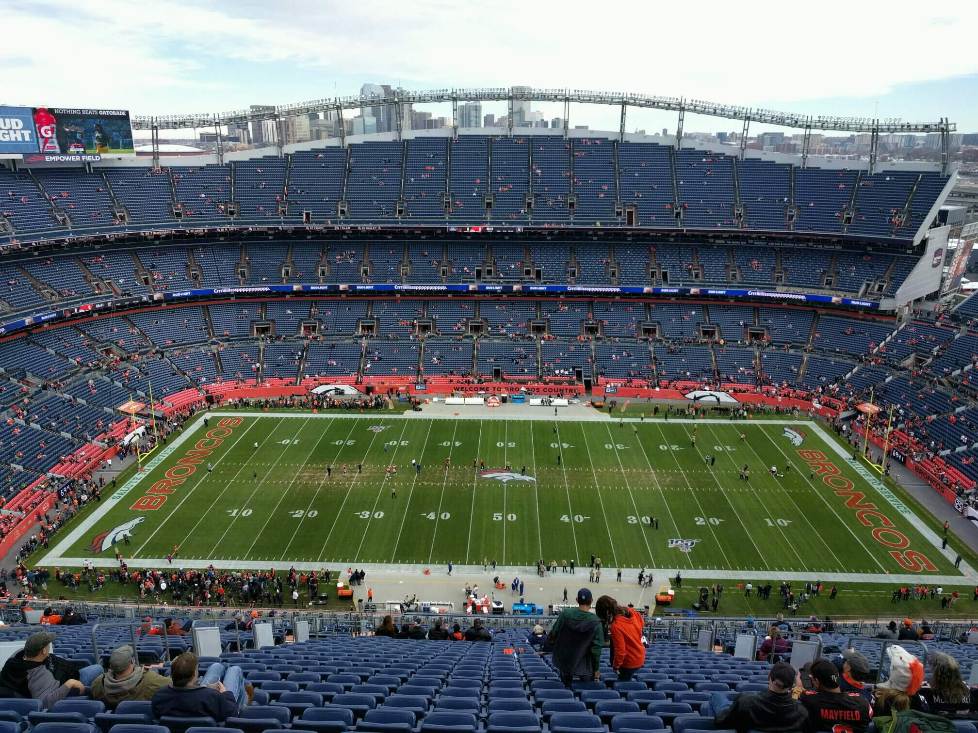 Empower Field at Mile High Stadium Section 508 Row 33 Seat 10