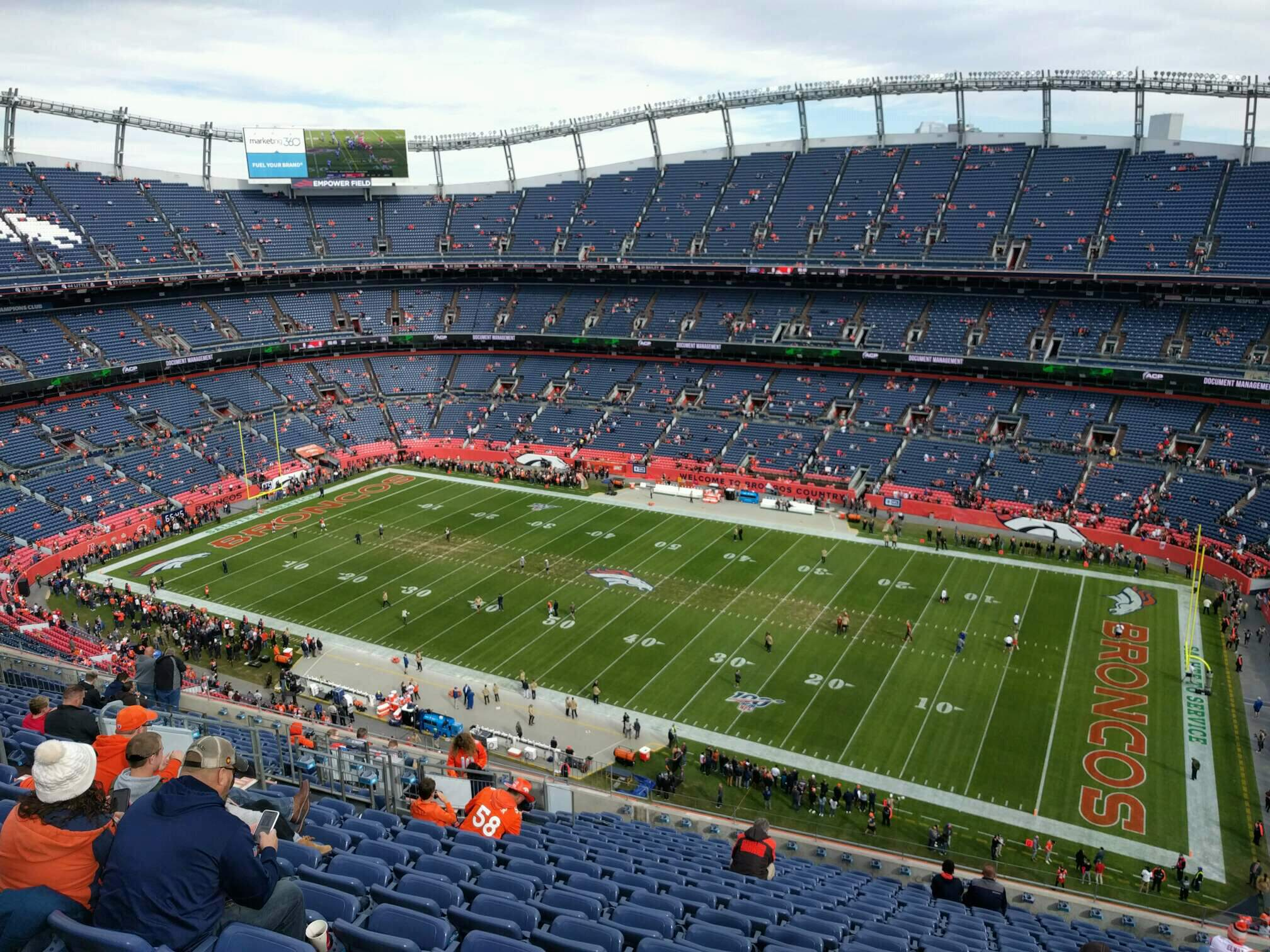 Empower Field at Mile High Stadium Section 504 Row 18 Seat 14