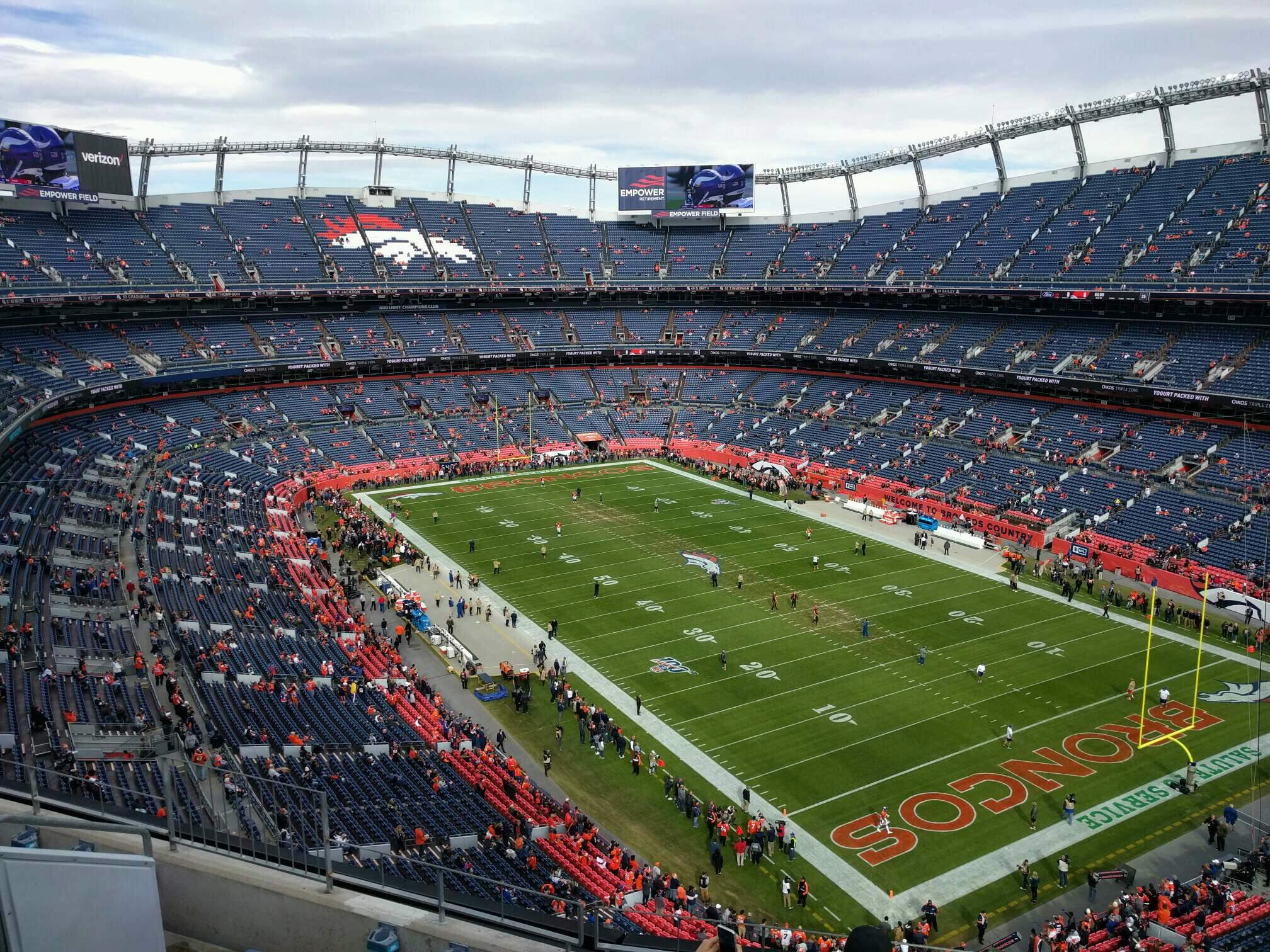 Empower Field at Mile High Stadium Section 500 Row 6