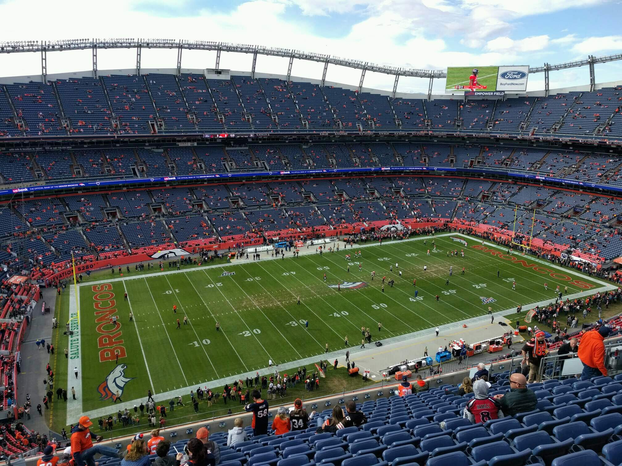 Empower Field at Mile High Stadium Section 538 Row 16 Seat 21