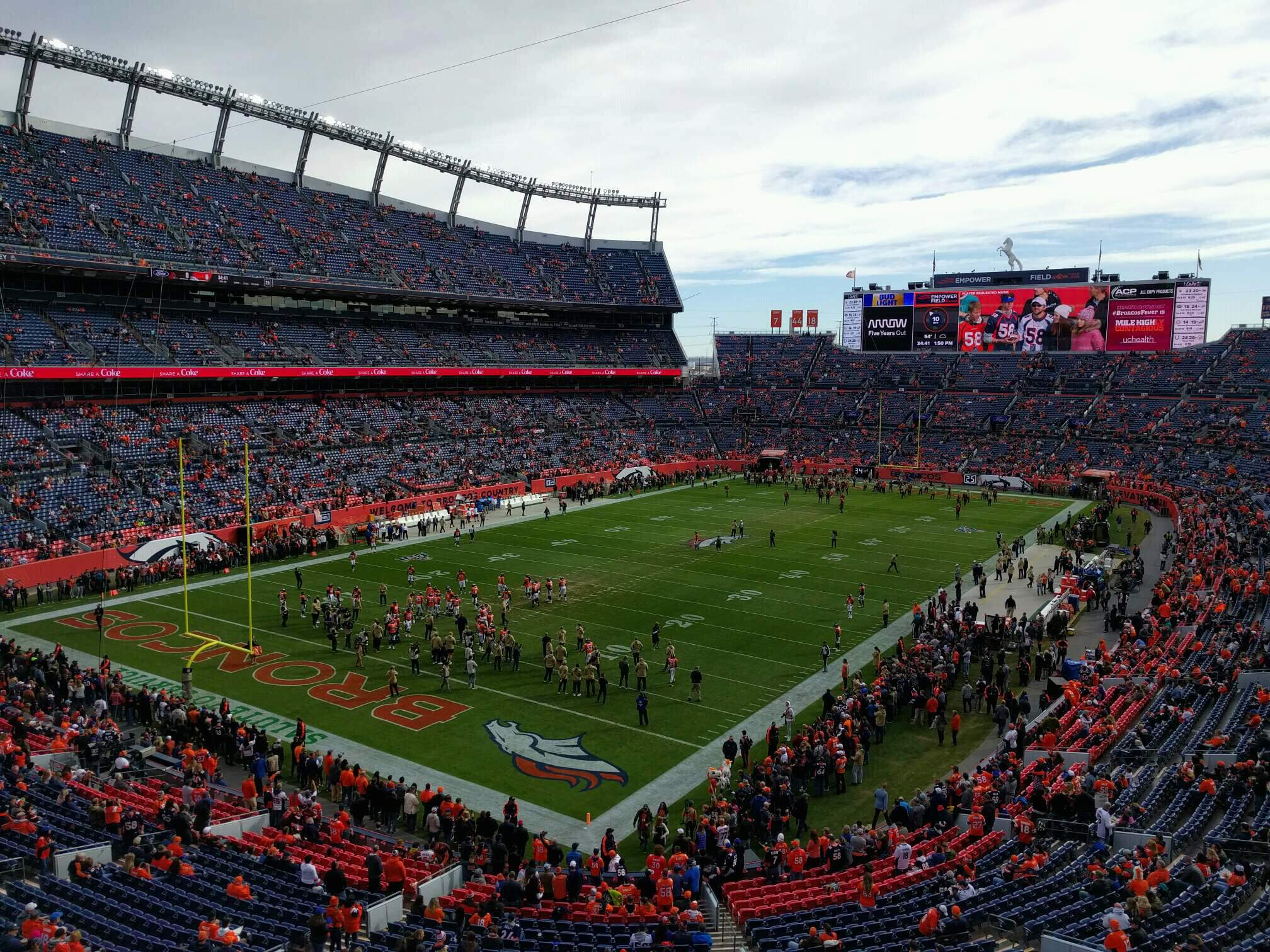 Empower Field at Mile High Stadium Section 319 Row 1 Seat 6