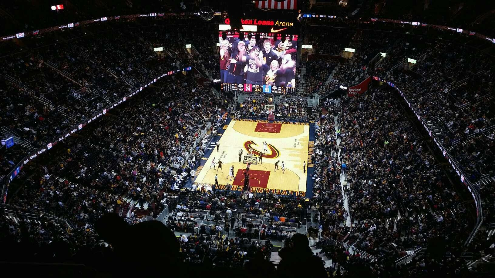 Quicken Loans Arena Section 201 Row 16 Seat 4