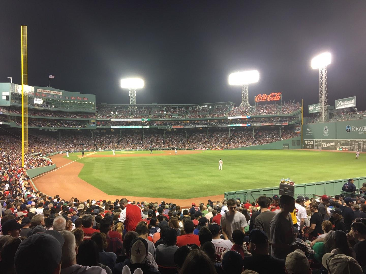 Fenway Park Section Right Field Box 89 Row QQ Seat 4