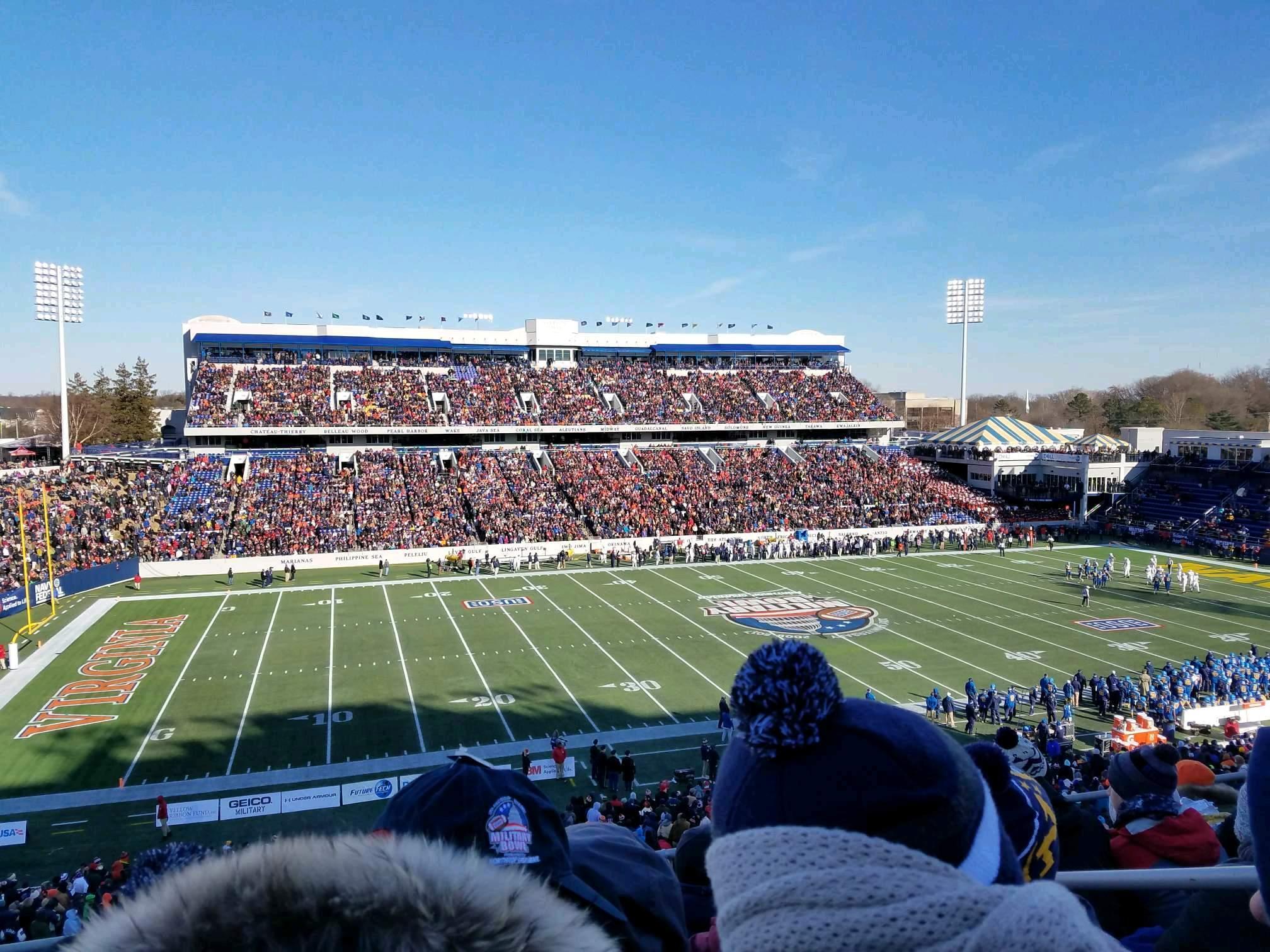 Navy-Marine Corps Memorial Stadium Section 107 Row 7 Seat 9