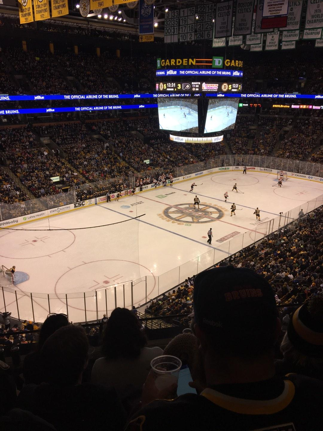 TD Garden Section Old Bal 320 Row 4 Seat 5