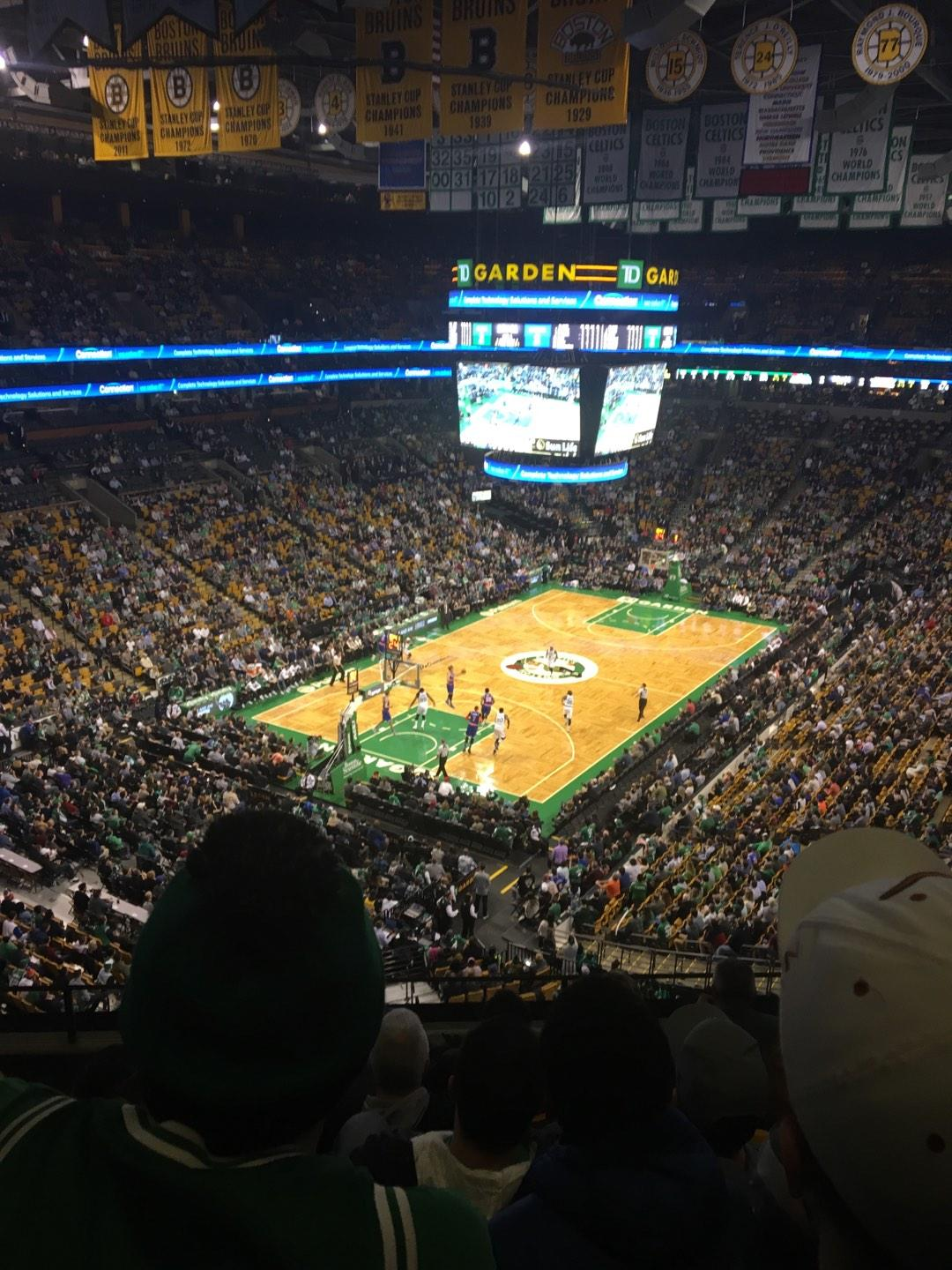 TD Garden Section Bal 321 Row 6 Seat 5