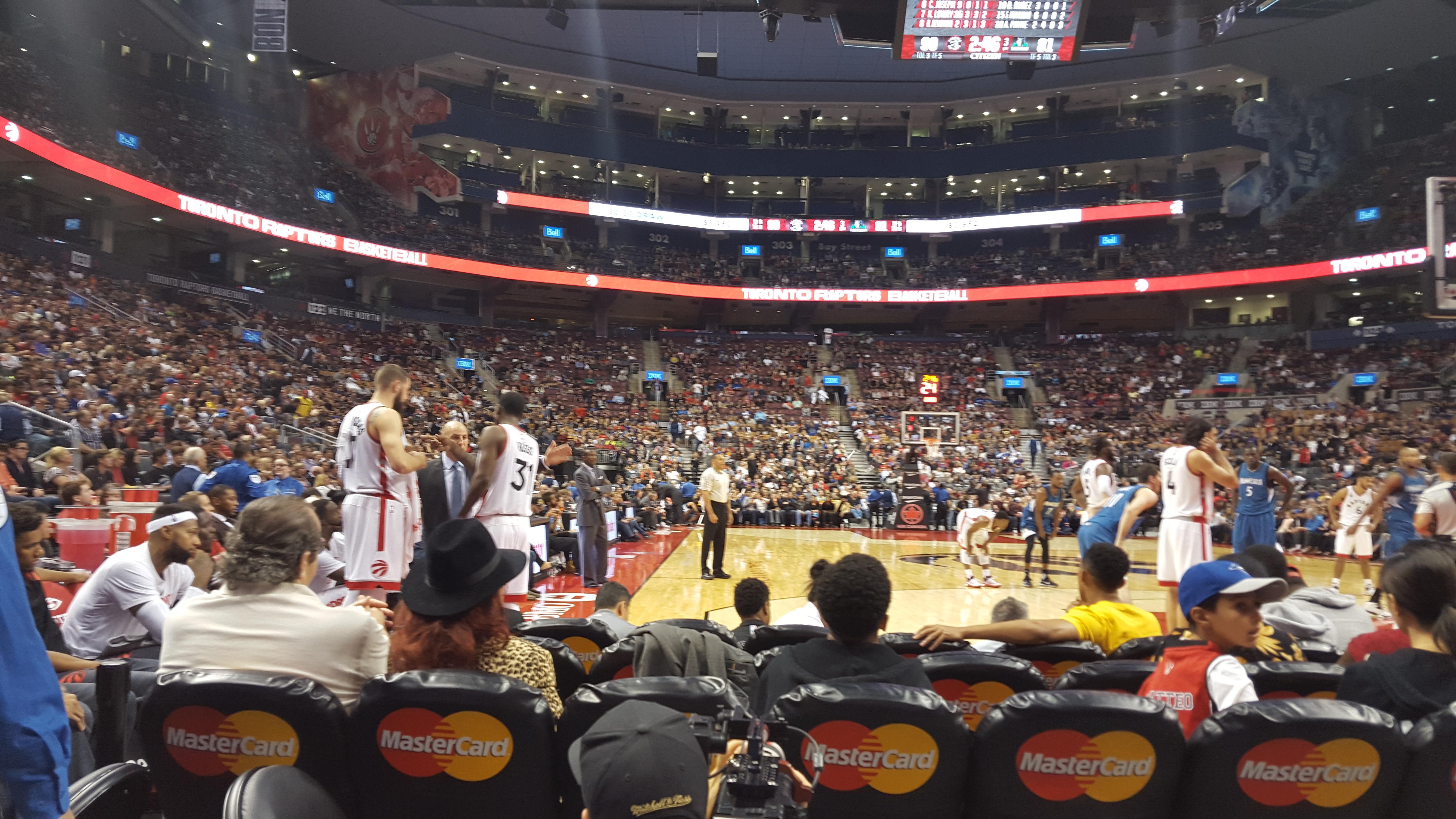 Scotiabank Arena Section 114 Row B Seat 12 Toronto Raptors Vs