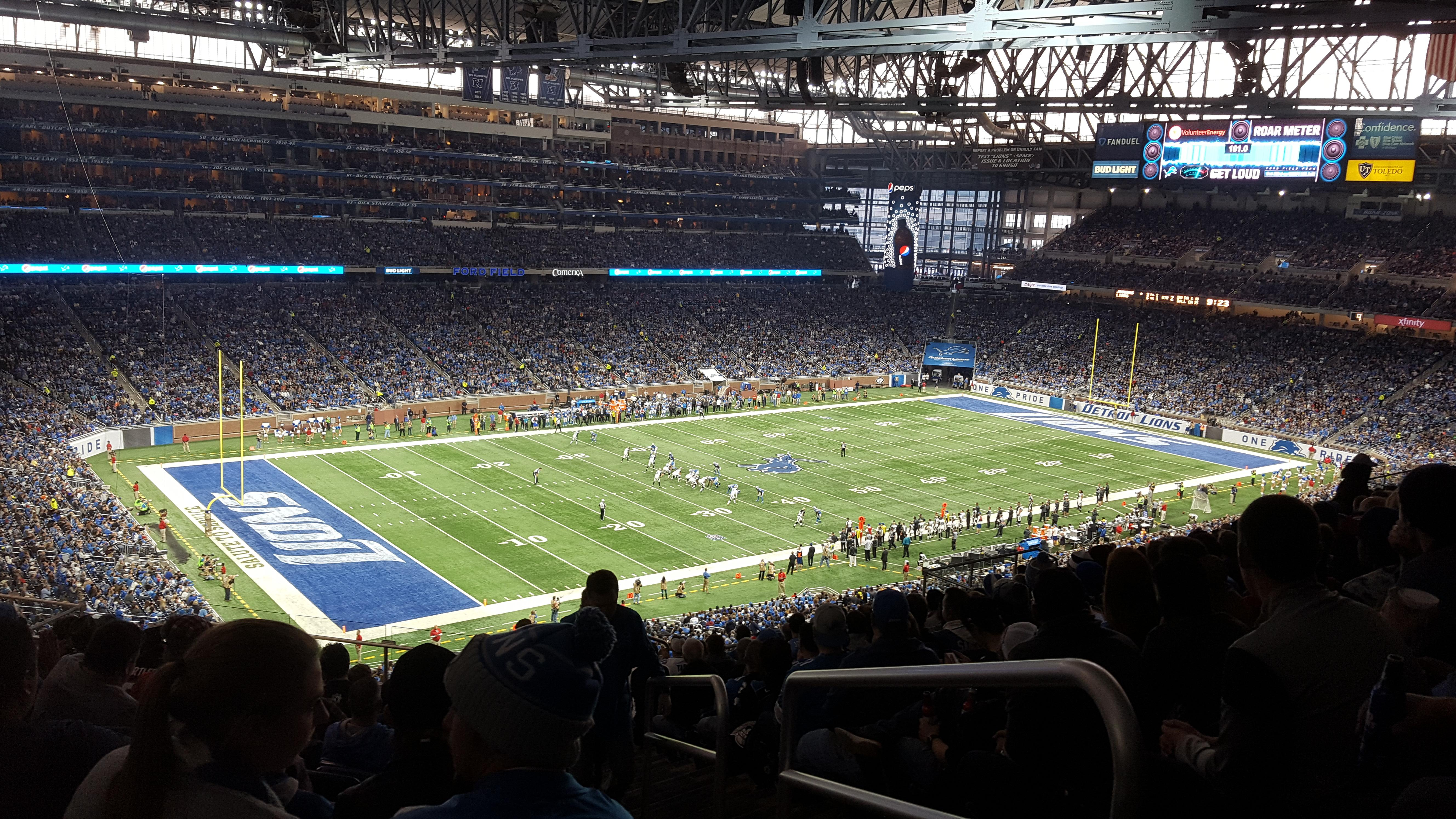 Ford Field Section 325 Row 15 Seat 23