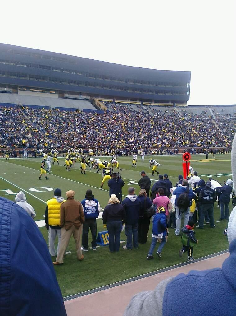 Michigan Stadium Section 26 Row 1