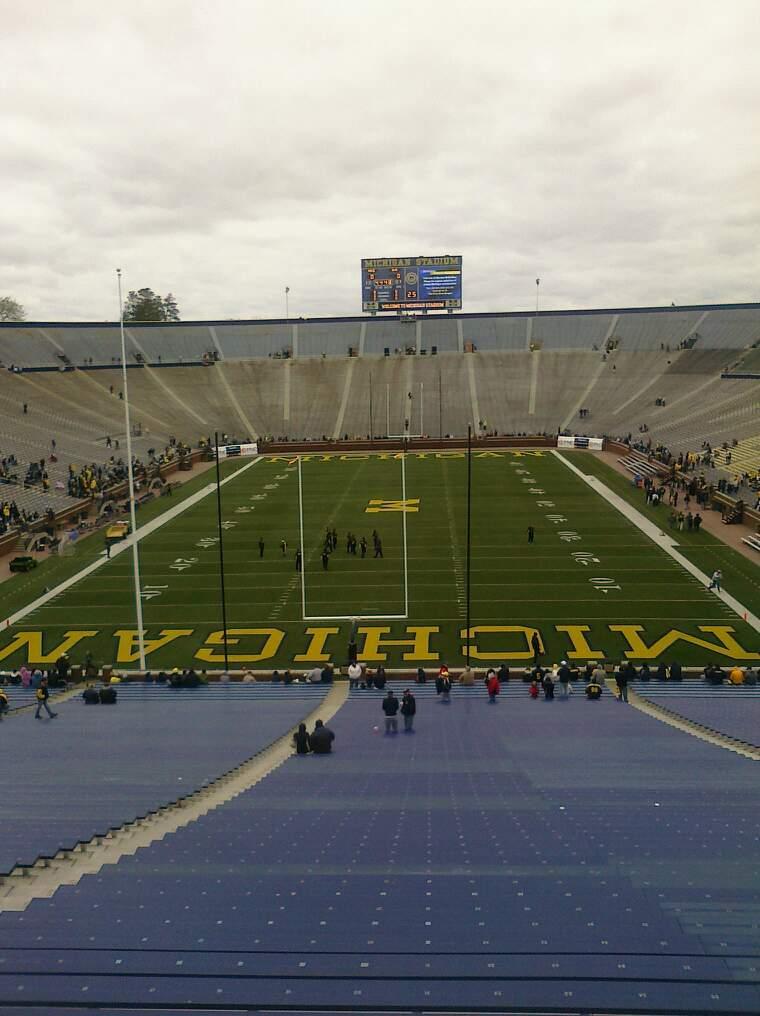 Michigan Stadium Section 33 Row 62 Seat 18
