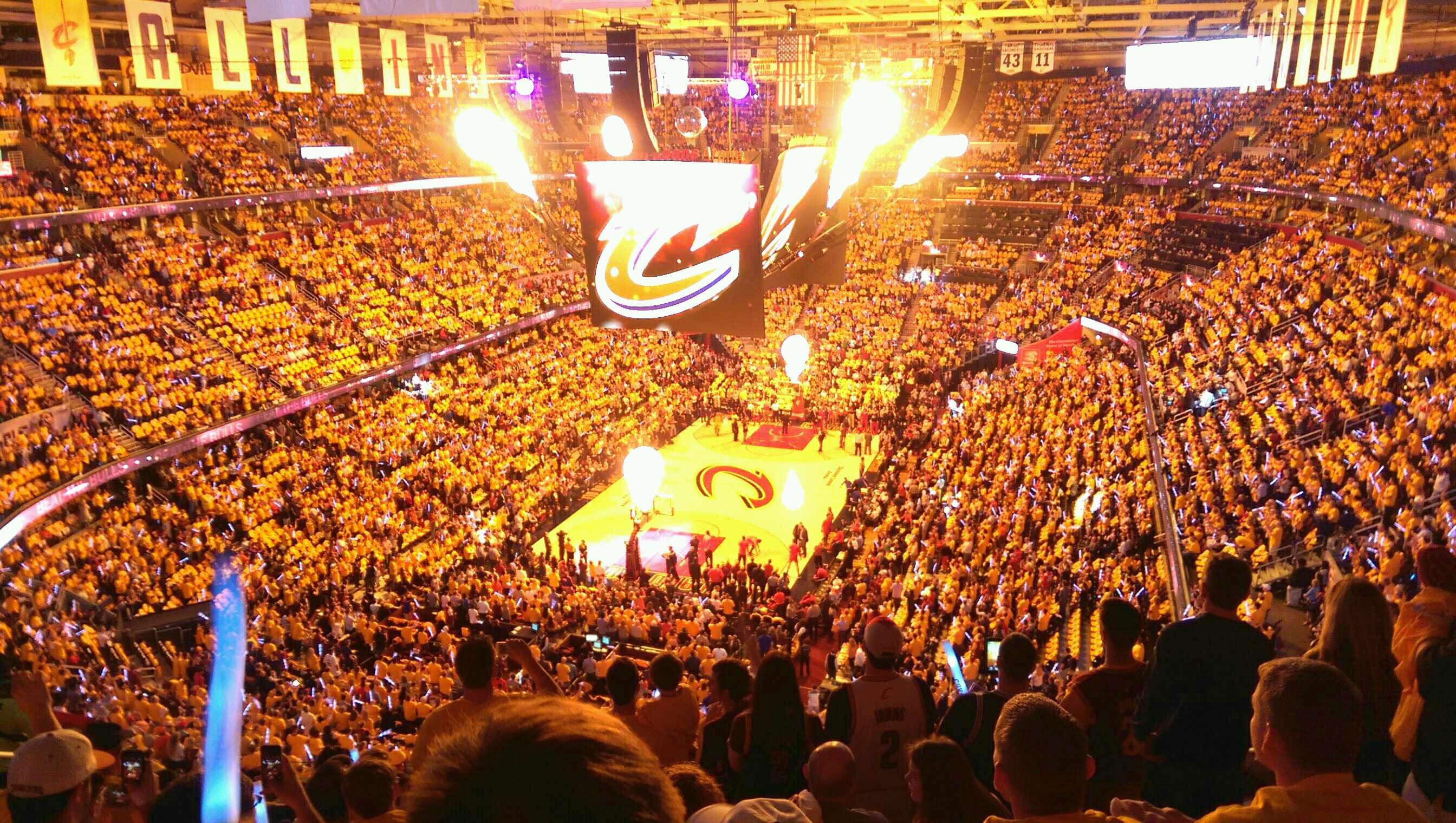 Seat View for Quicken Loans Arena Section 219 Row 10