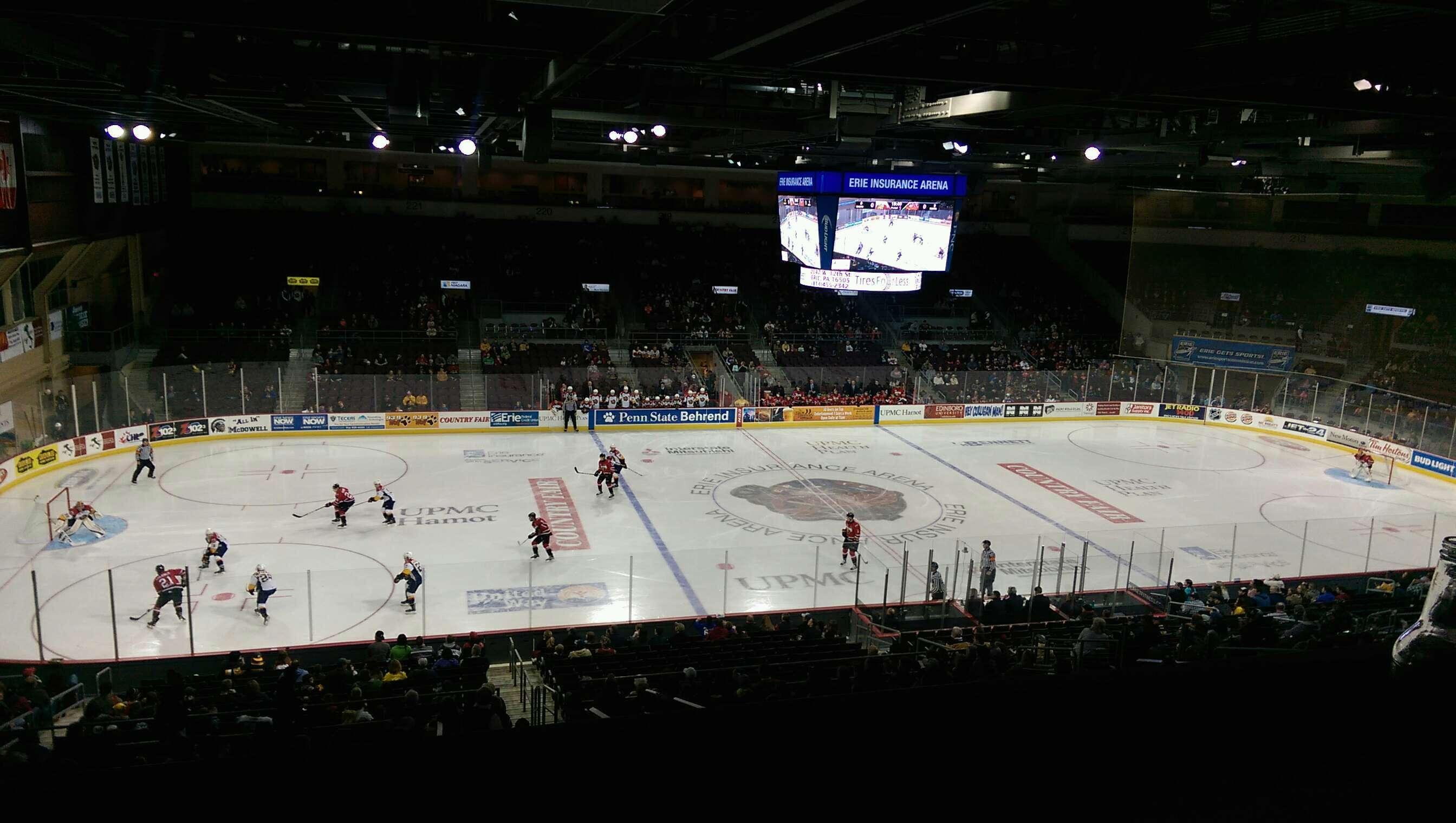 Erie Insurance Arena Section Suite 302 Row SA Seat 7