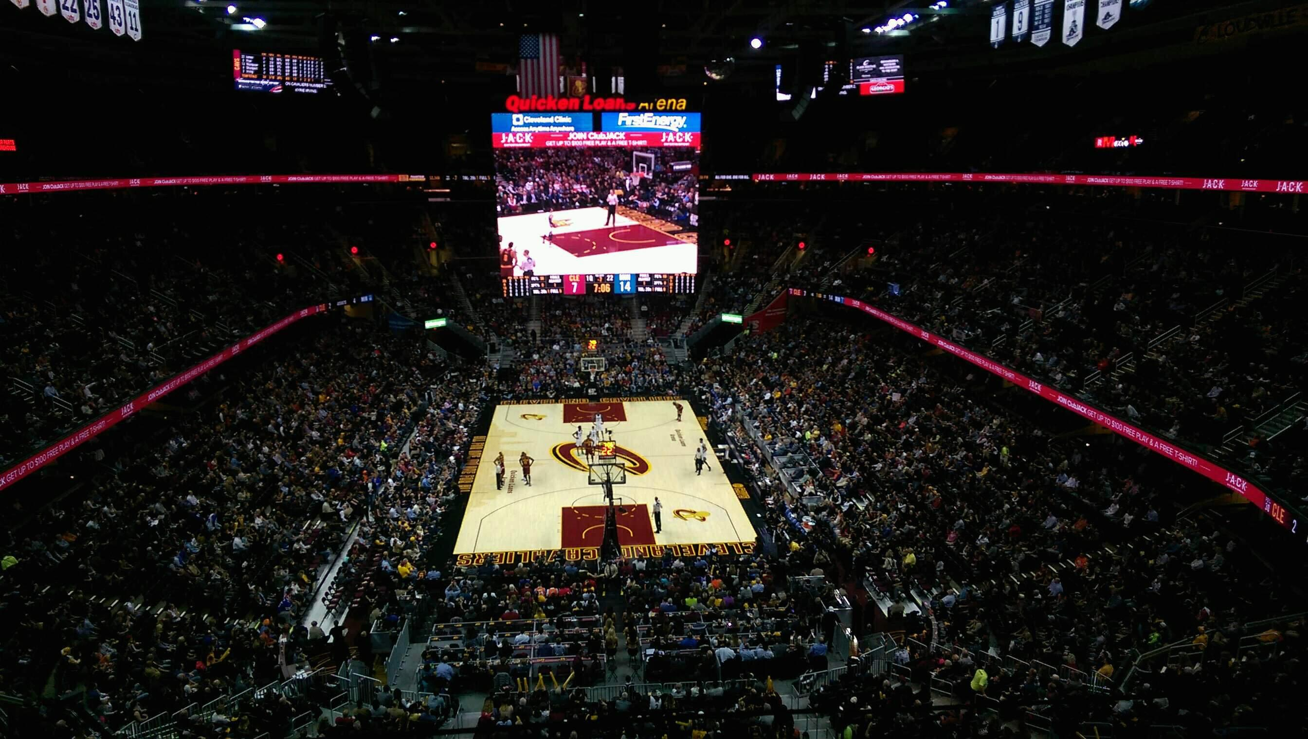 Quicken Loans Arena Section 217 Row 2 Seat 4