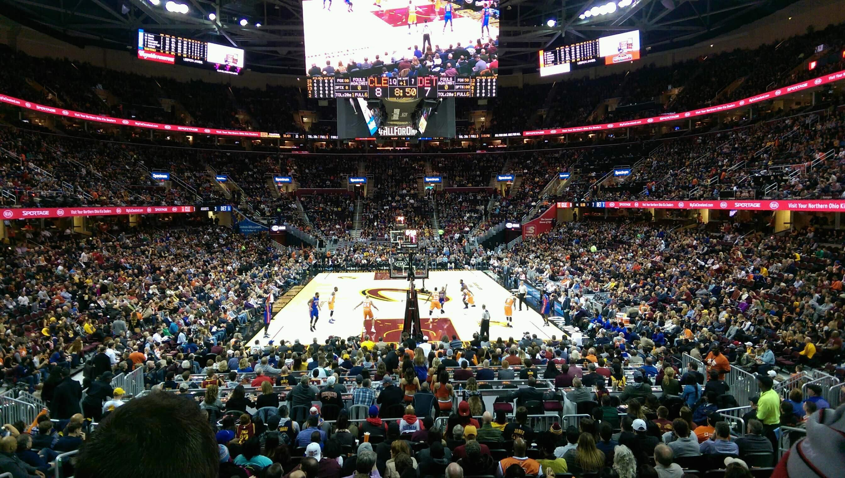 Quicken Loans Arena Section 117 Row 14 Seat 8