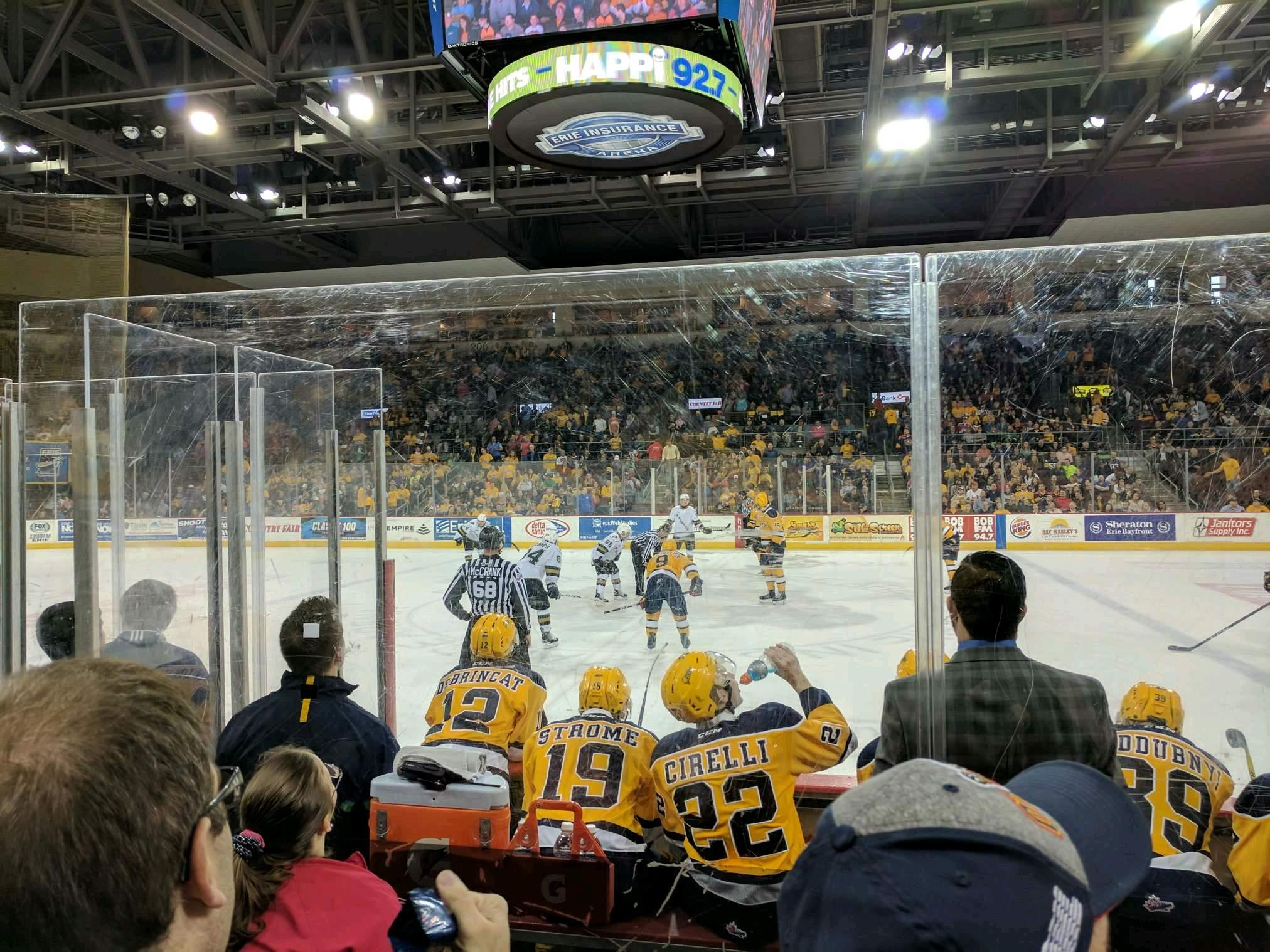 Erie Insurance Arena Section 119 Row E Seat 2