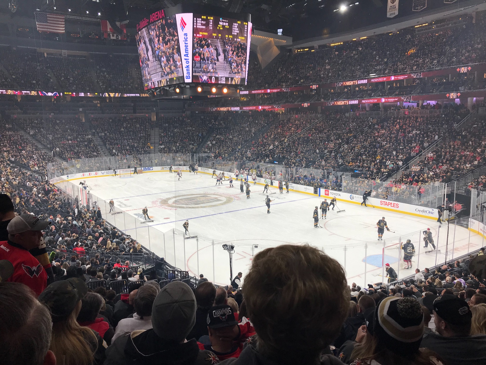 T-Mobile Arena Section 19 Row W Seat 9
