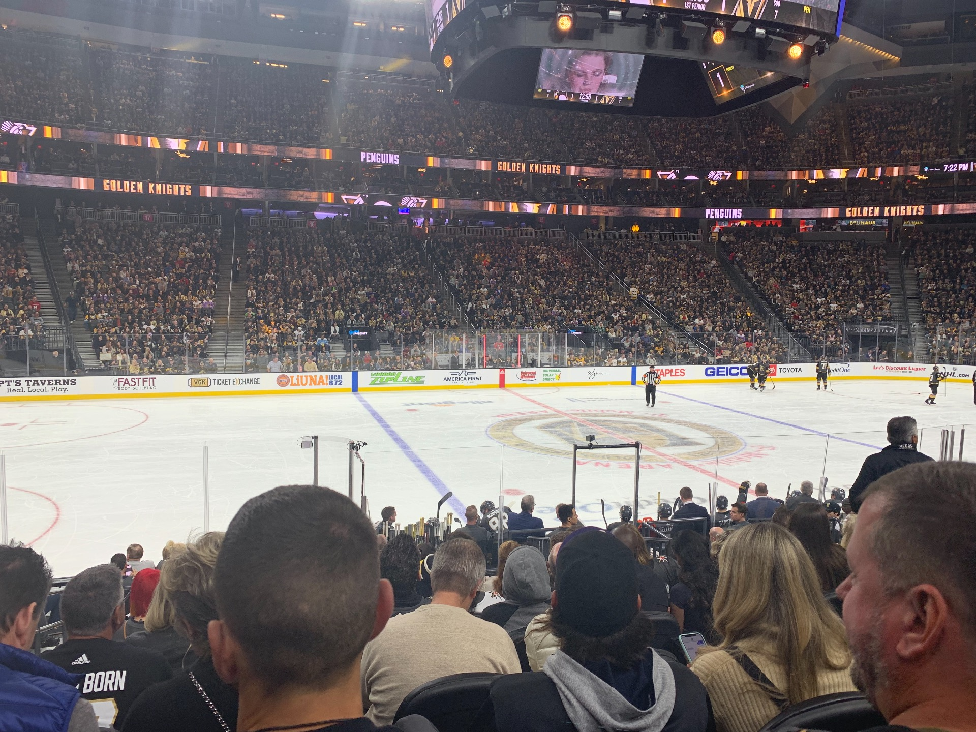T-Mobile Arena Section 5 Row J Seat 2