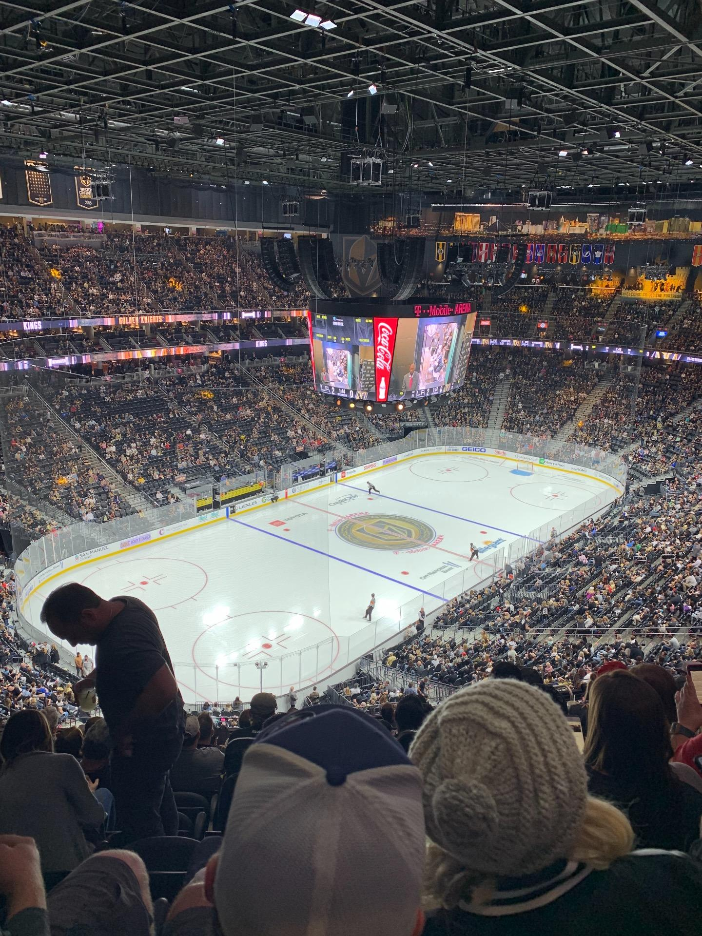 T-Mobile Arena Section 218 Row M Seat 9