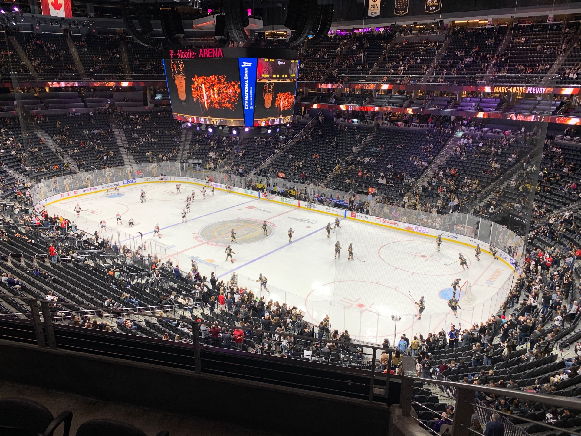 T-Mobile Arena Section 227 Row C Seat 8