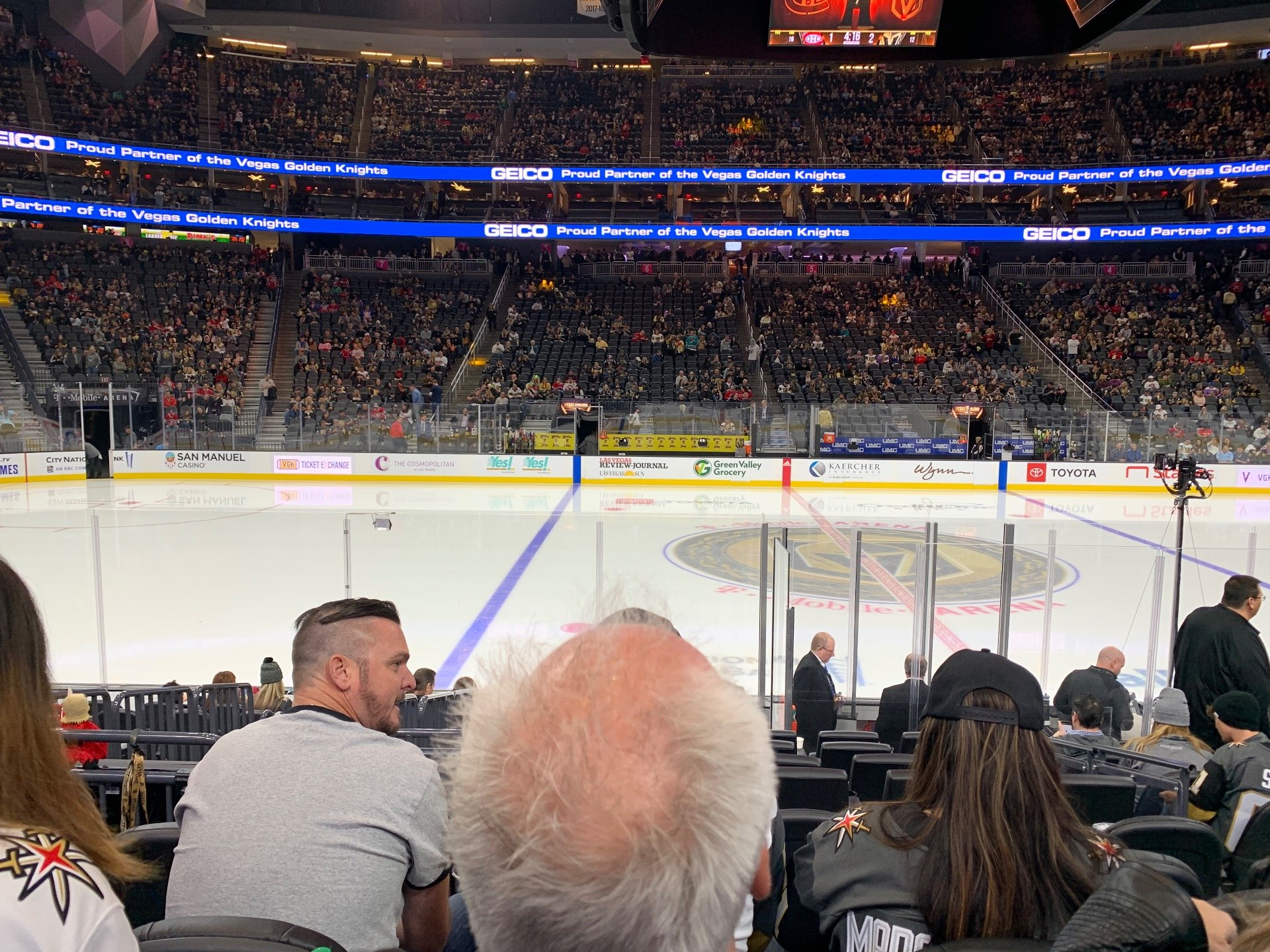 T-Mobile Arena Section 15 Row G Seat 15