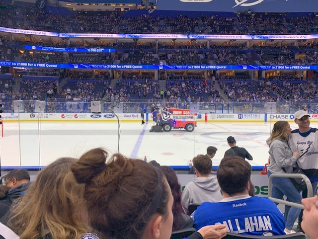Amalie Arena Section 102 Row G Seat 2