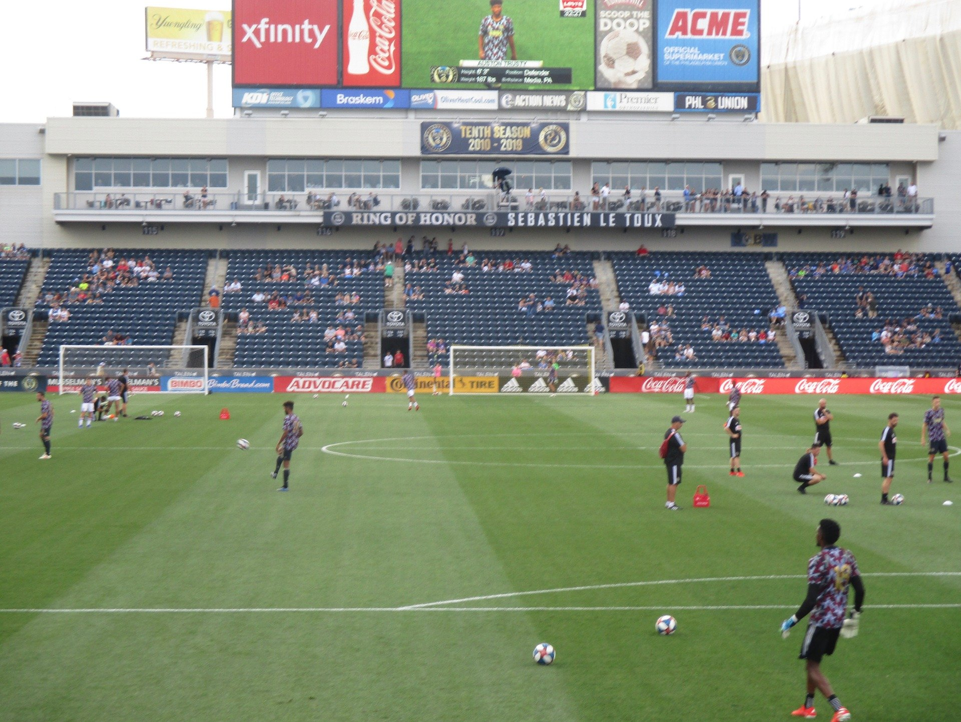 talen energy stadium Section 139 Row 1 Seat 1