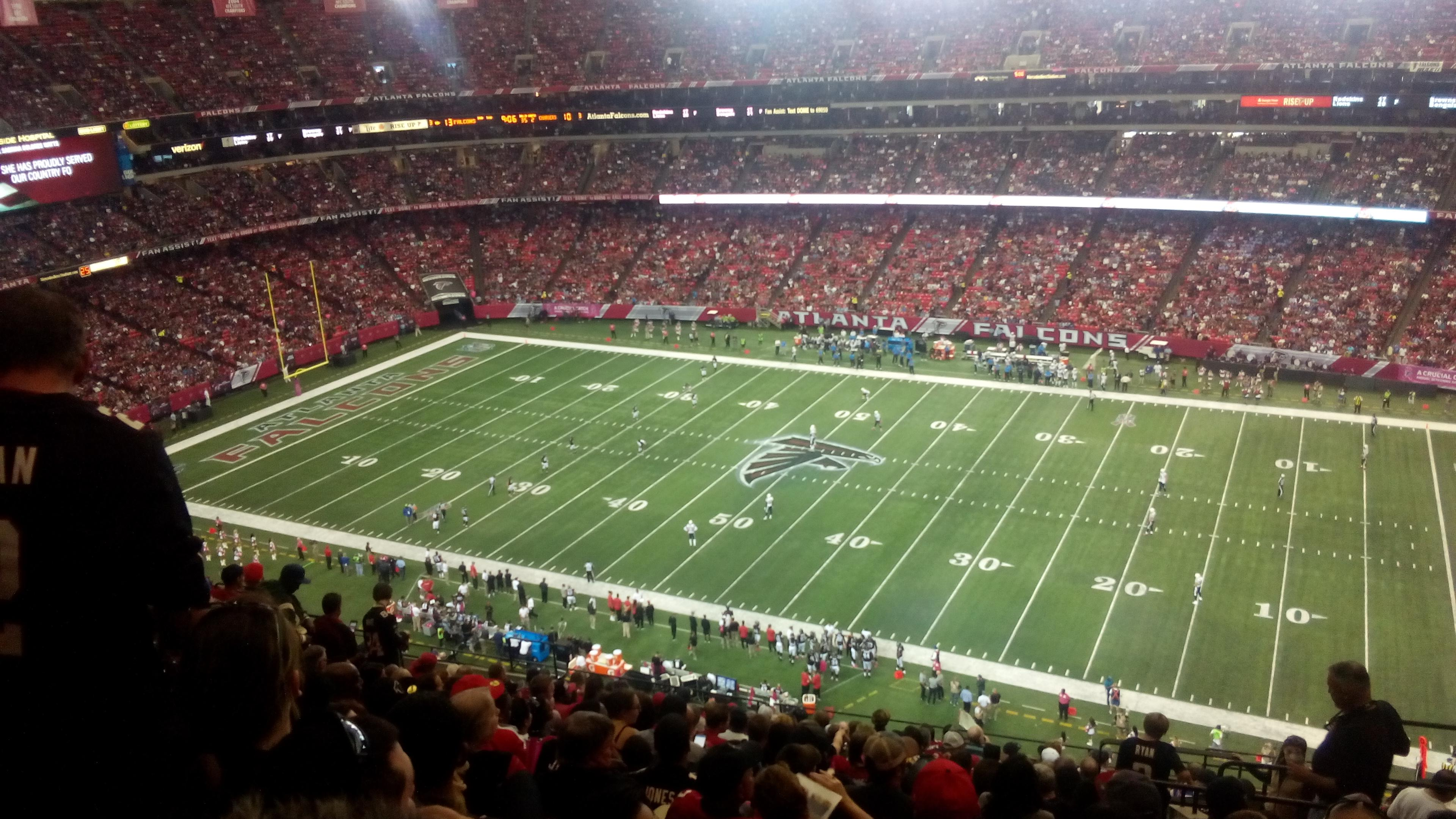 Georgia Dome Section 319 Row 17 Seat 22