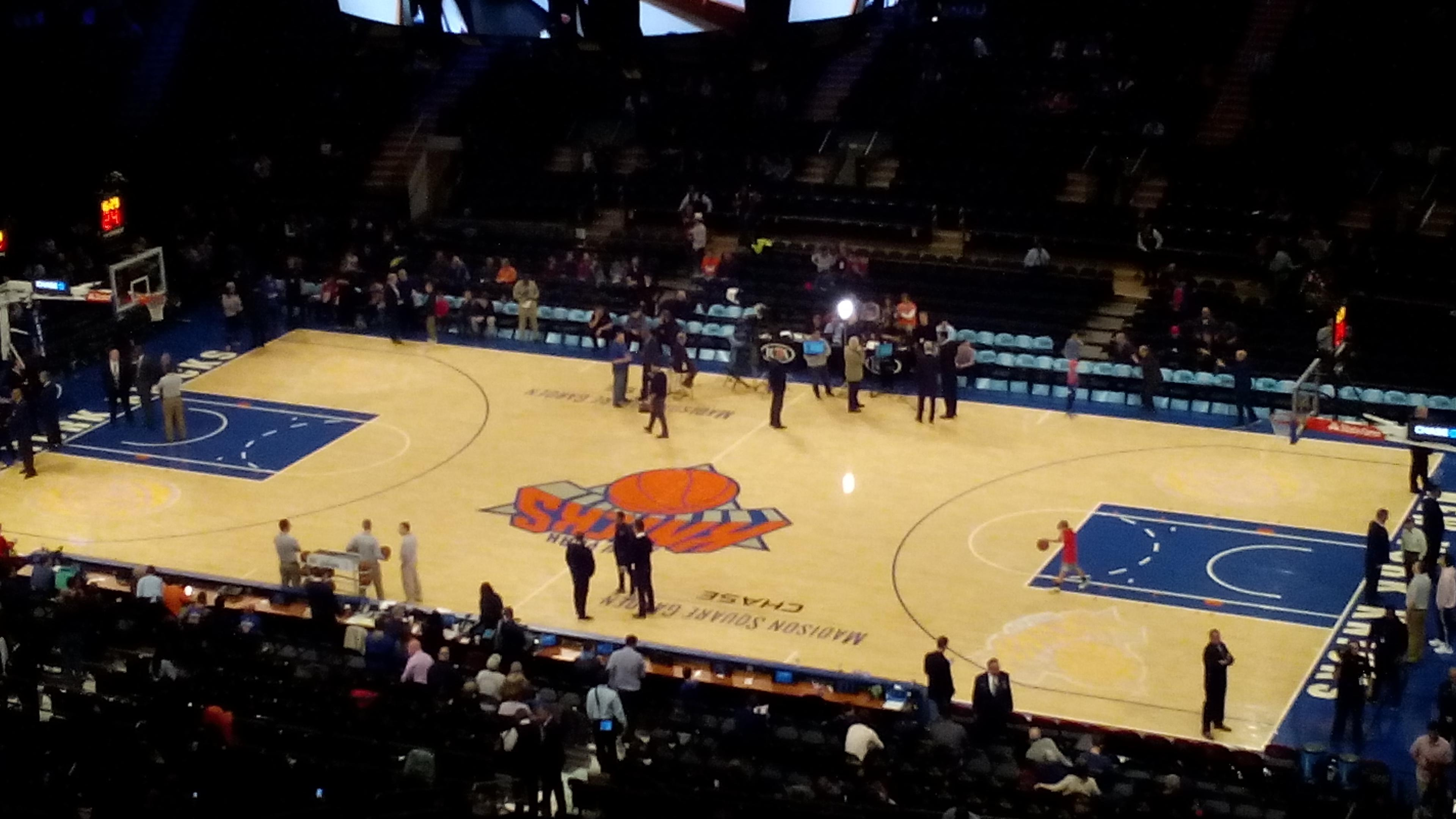 Madison Square Garden Section 213 Row 14 Seat 12