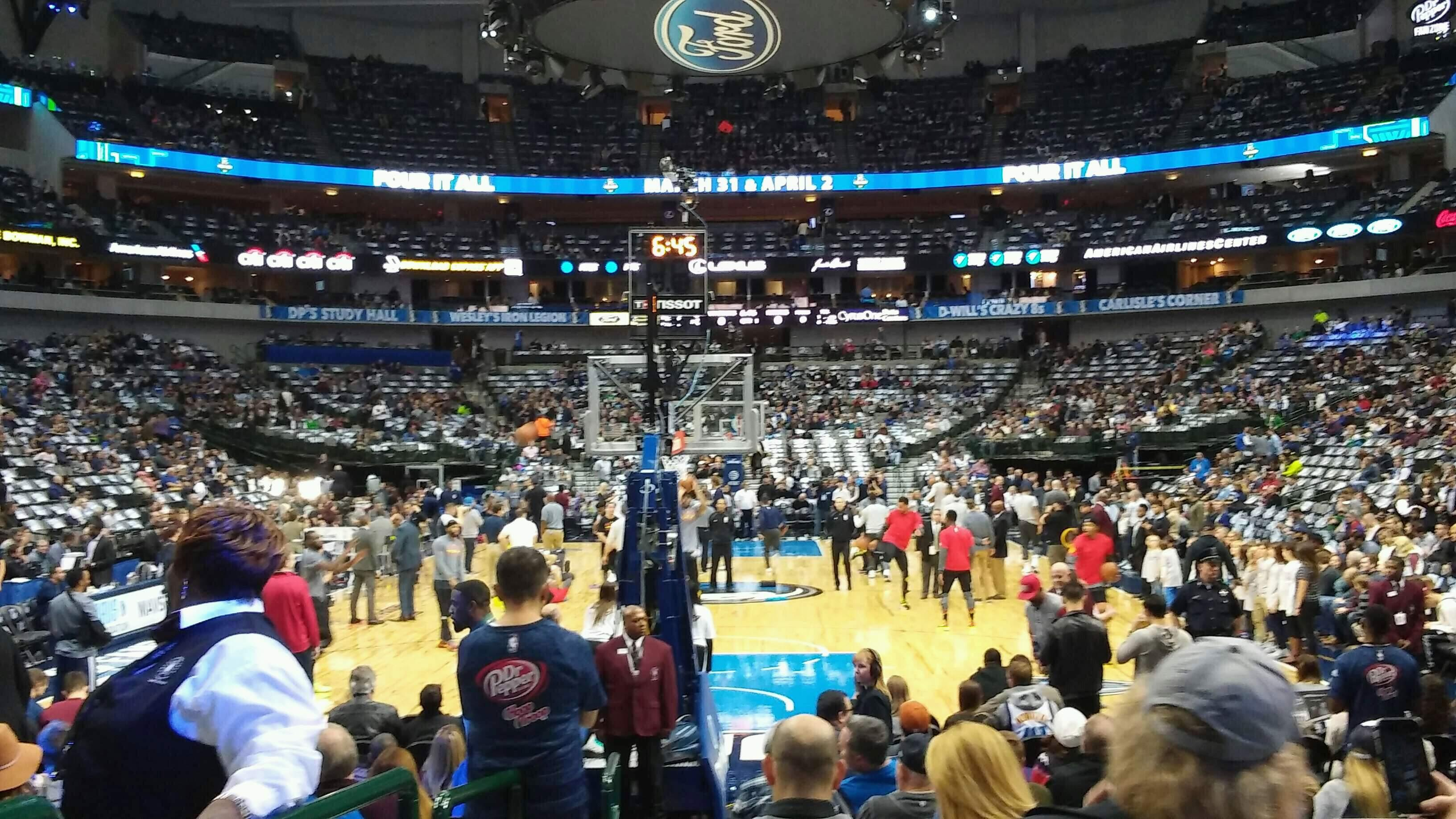 American Airlines Center Section 112 Row A Seat 12