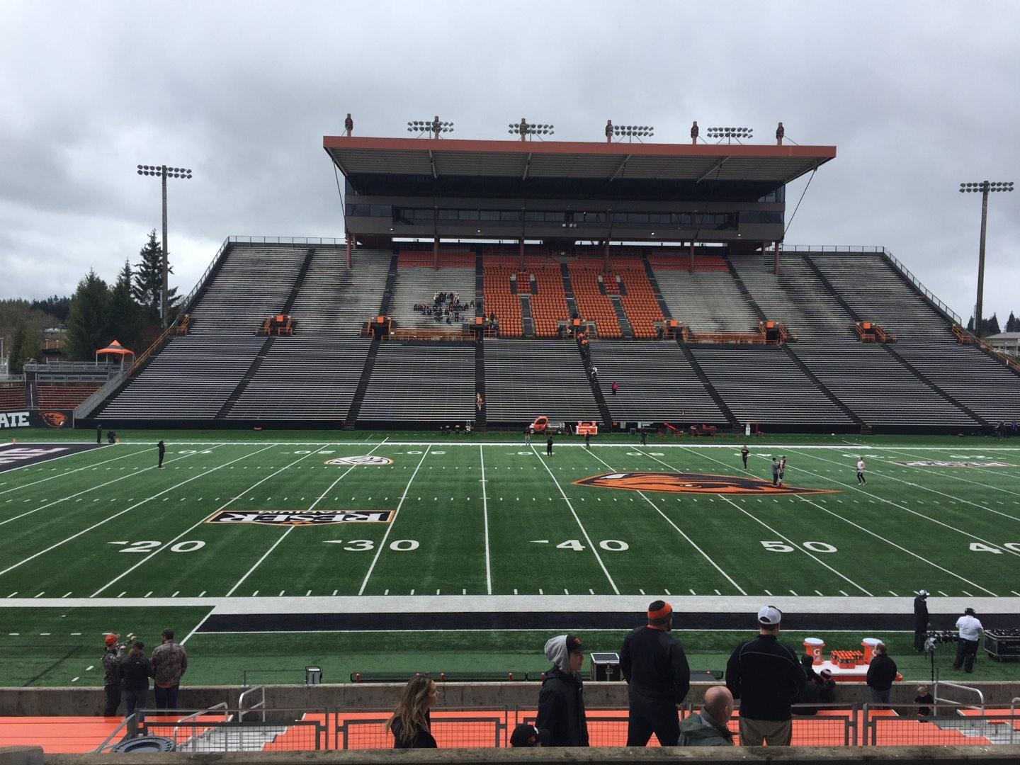 Reser Stadium Section 117 Row 20 Seat 13