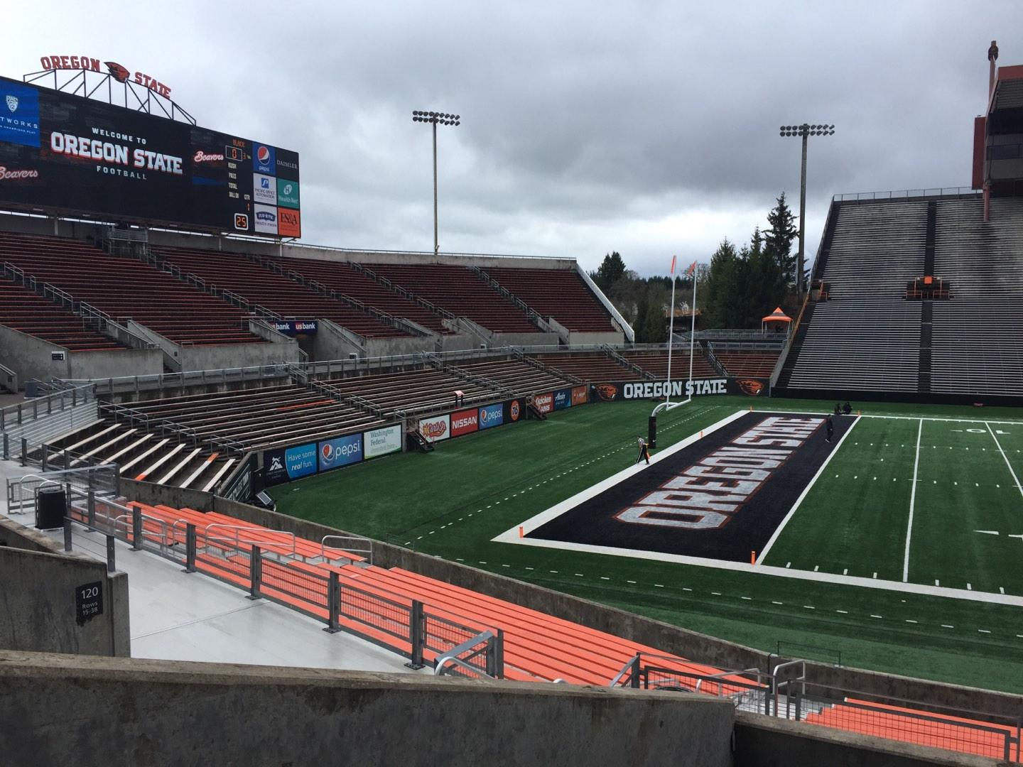 Reser Stadium Section 119 Row 20 Seat 10