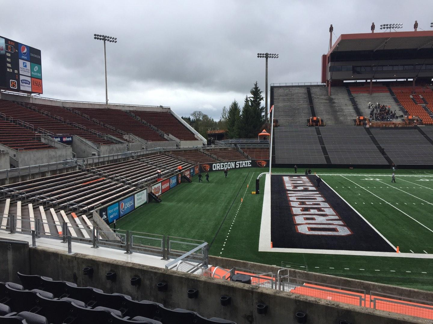 Reser Stadium Section 120 Row 20 Seat 10