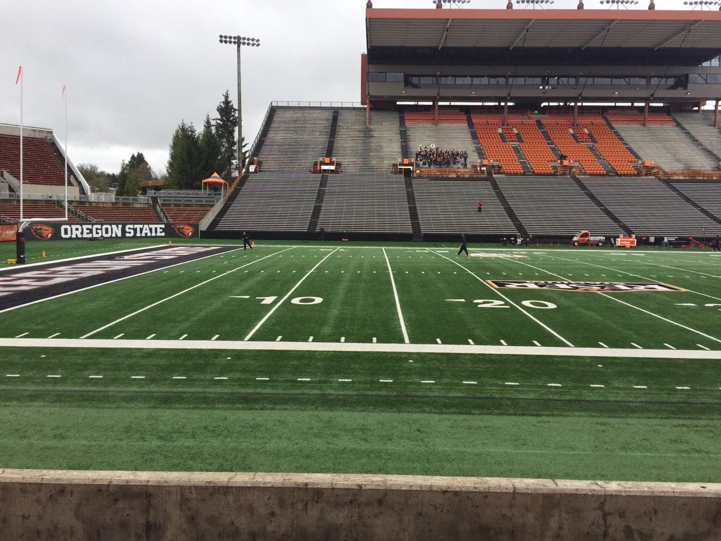 Reser Stadium Section 119 Row 5 Seat 5