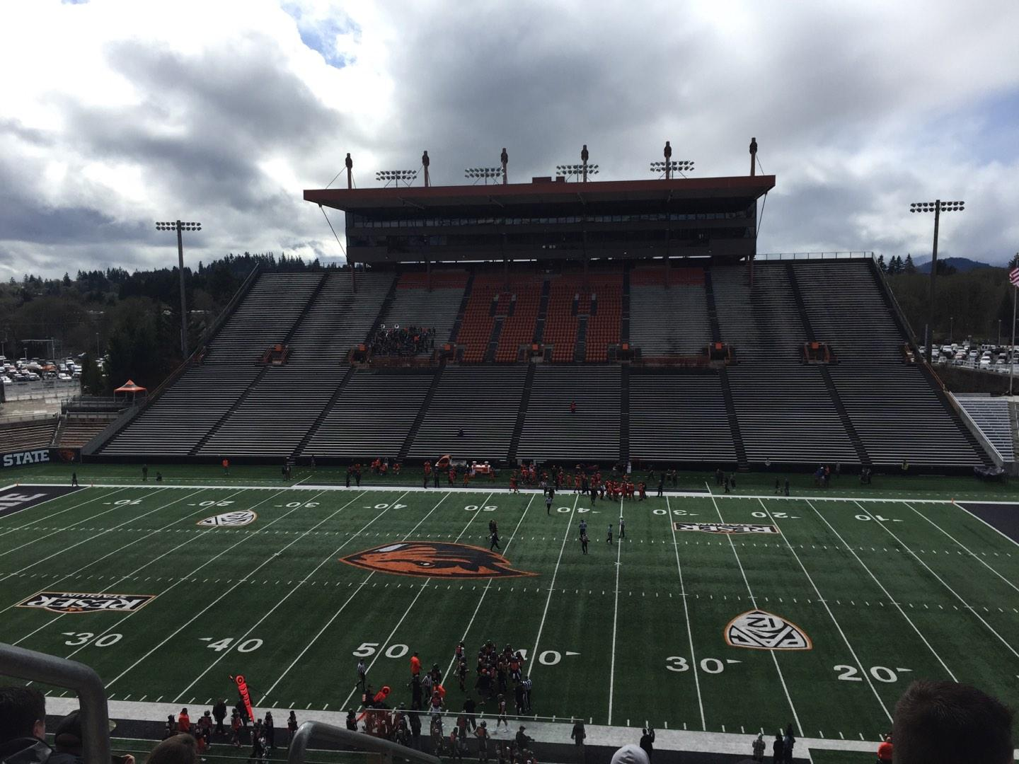 Reser Stadium Section 217 Row 6 Seat 20
