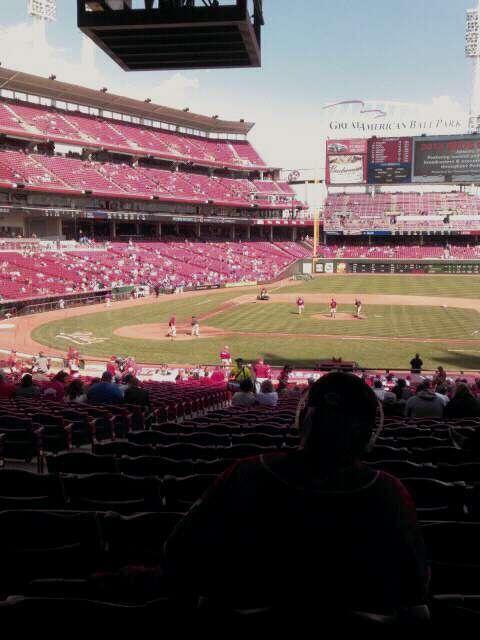 Great American Ball Park Section 129 Row LL Seat 12