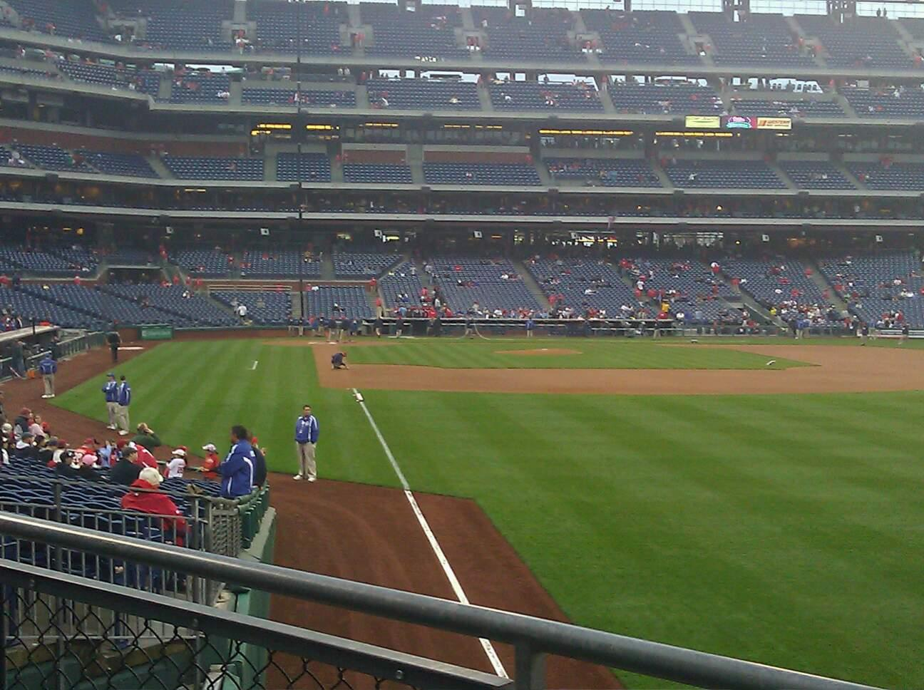 Citizens Bank Park Section 107 Row 5 Seat 7
