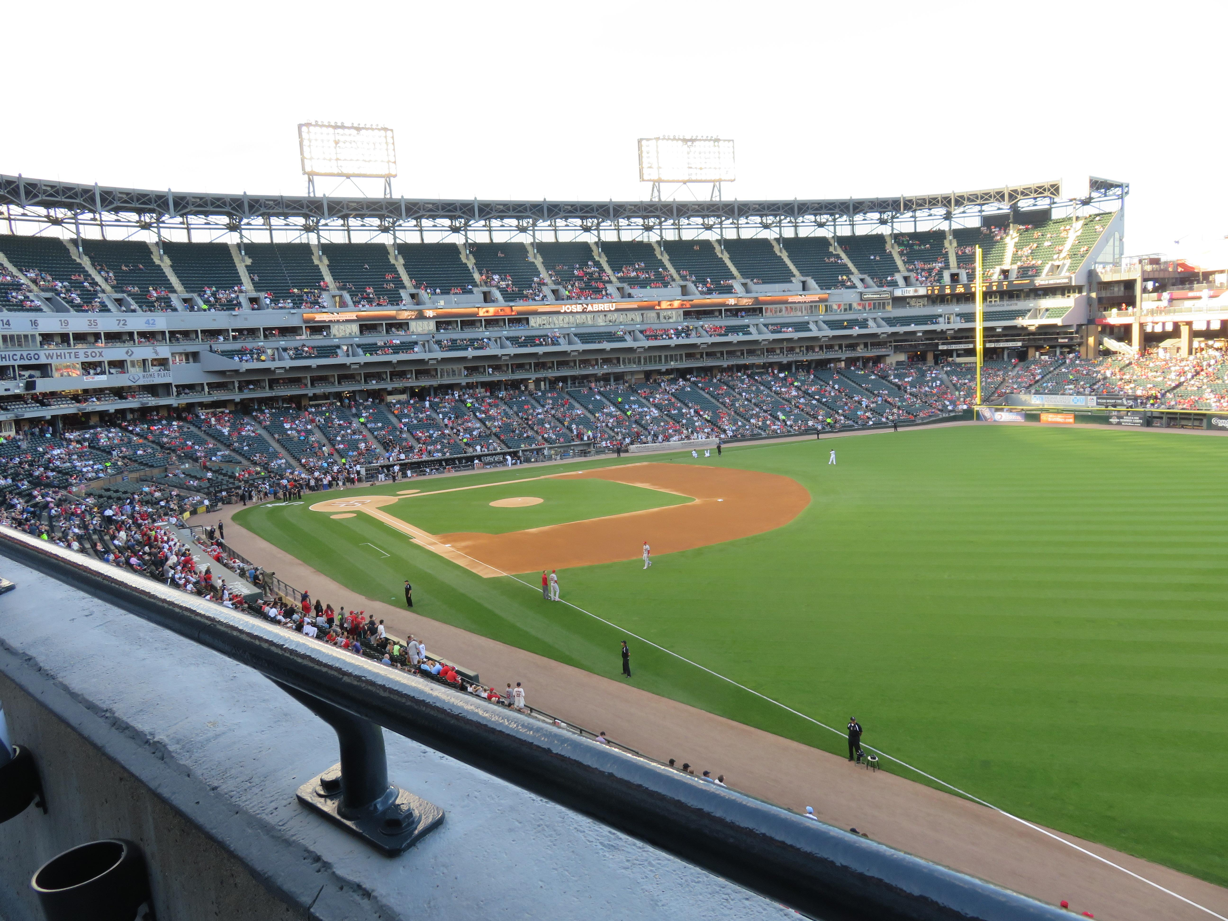 Guaranteed Rate Field Section 312 Row 1 Seat 10