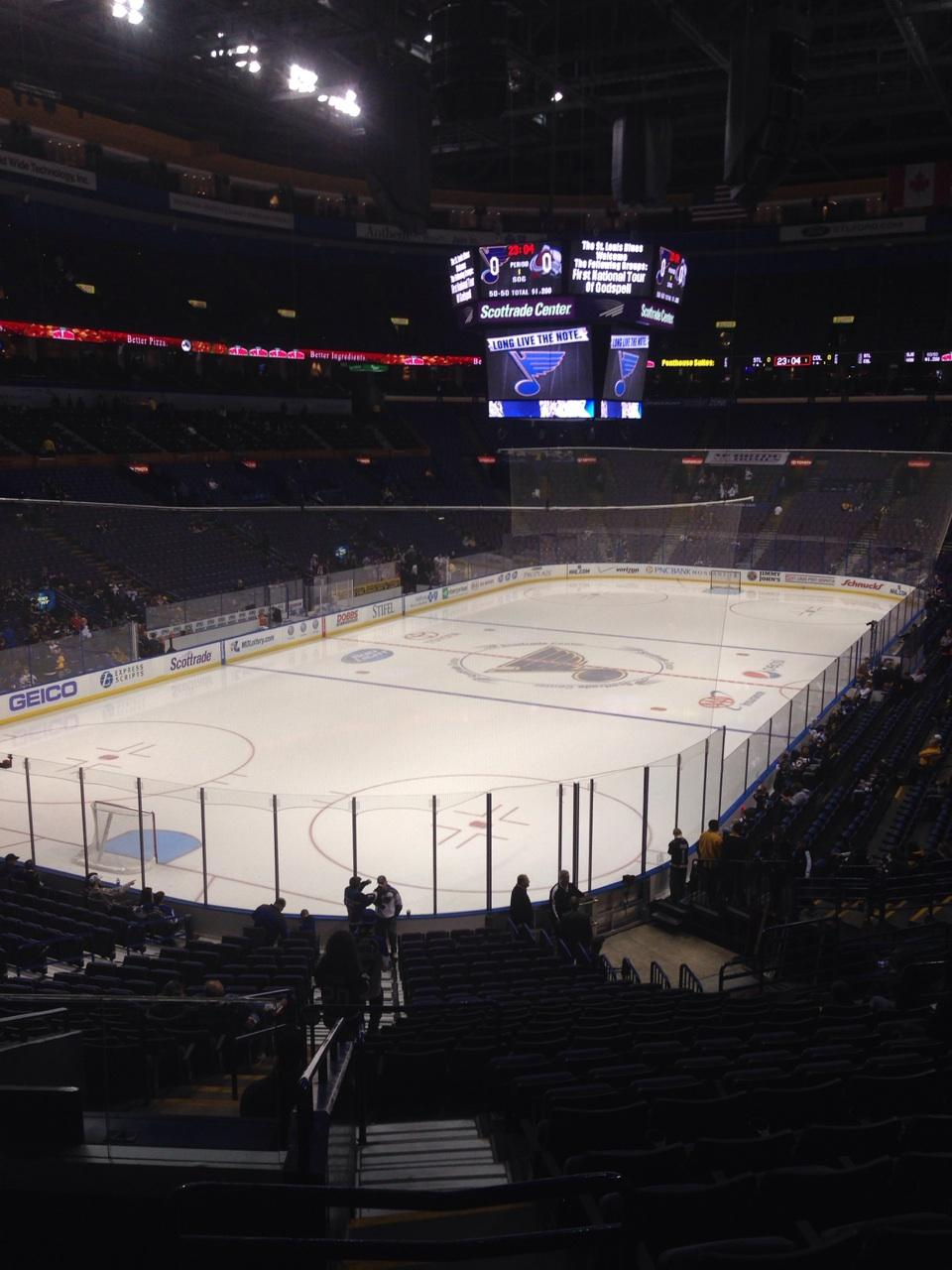Scottrade Center Section 120 Row EE Seat 15