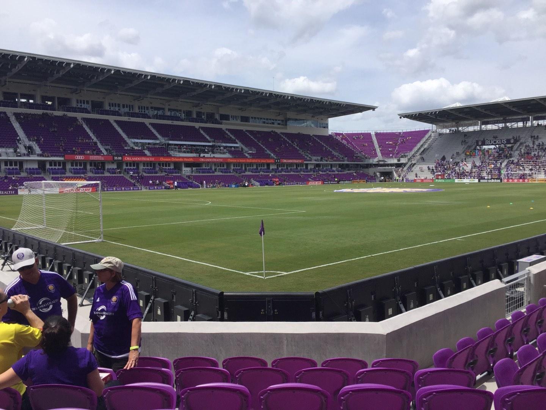 Exploria Stadium Section 1 Row G Seat 18