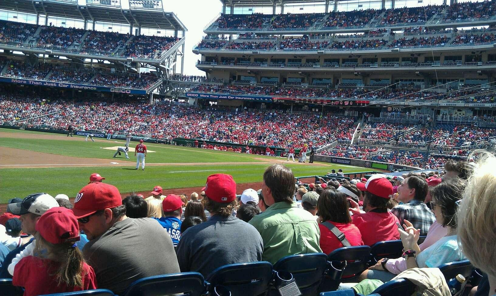 Nationals Park Section 113 Row N Seat 10