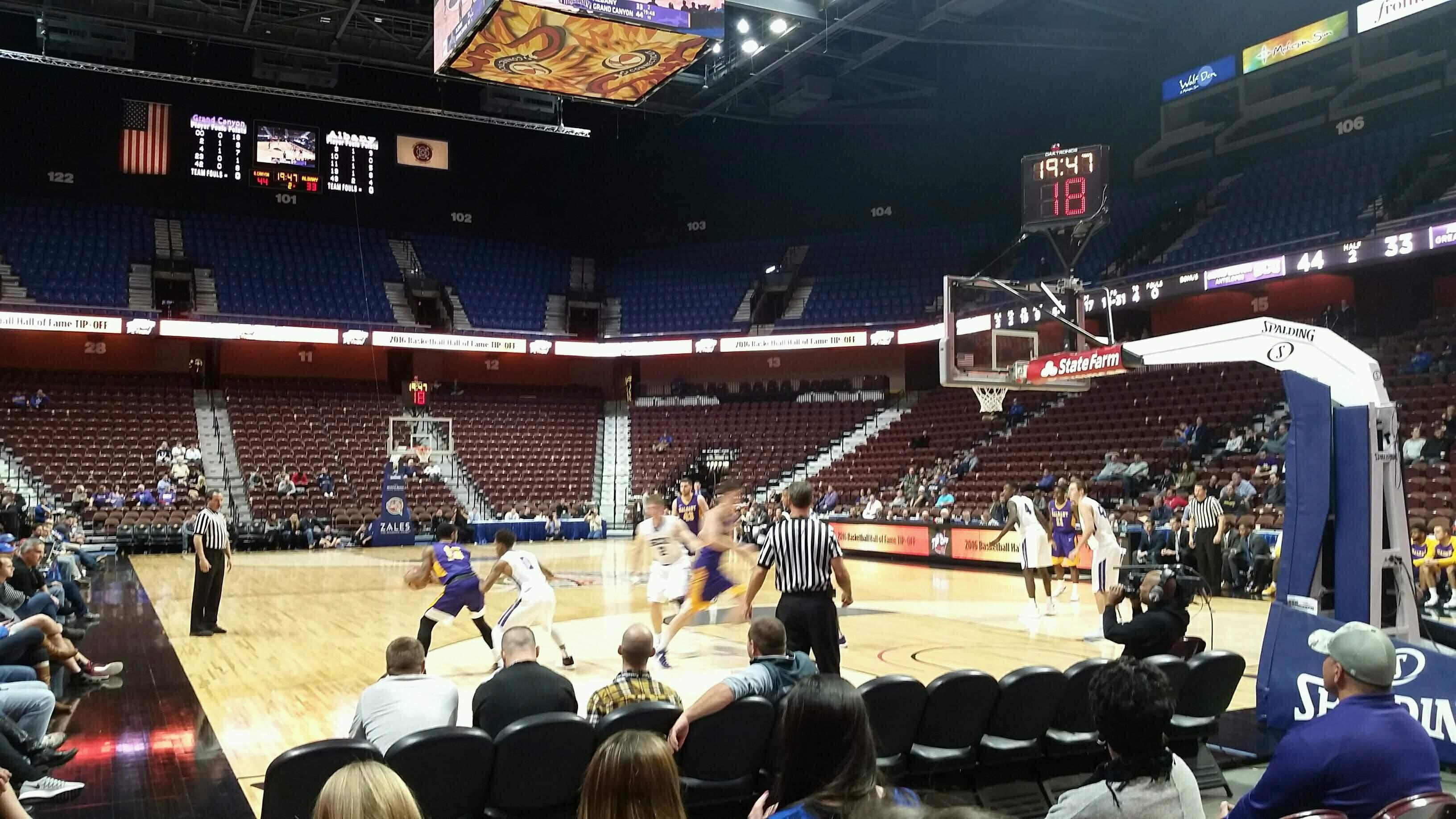 Mohegan Sun Arena Section 21 Row D Seat 7