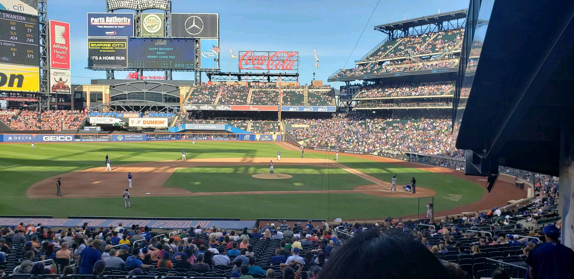 Citi Field Section 121 Row 31 Seat 3