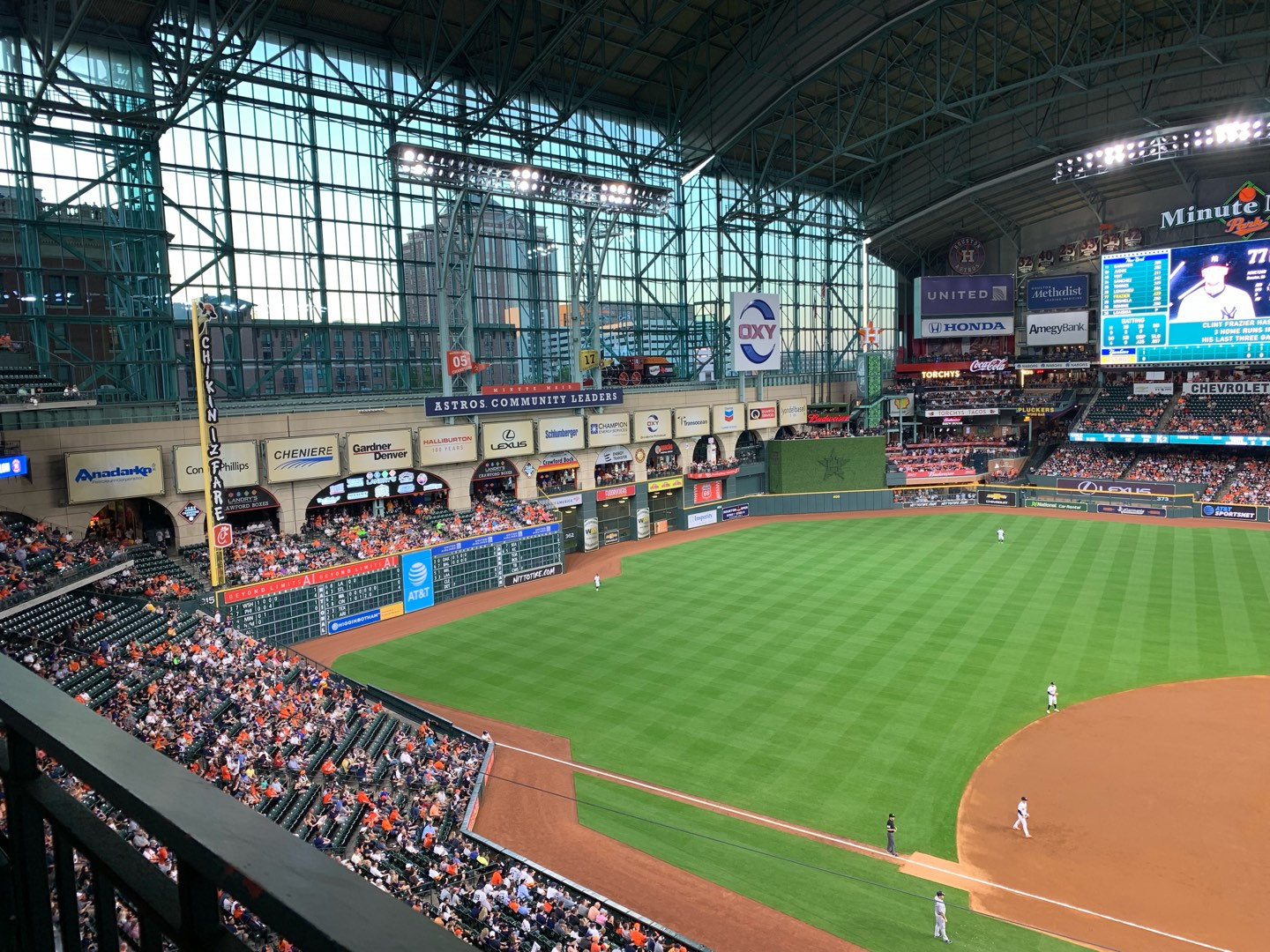Minute Maid Park Section 313 Row 1 Seat 11