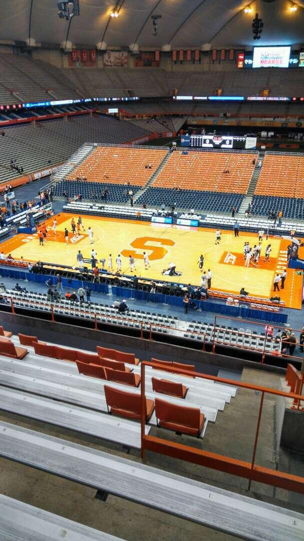 Carrier Dome Section 309 Row K Seat 3